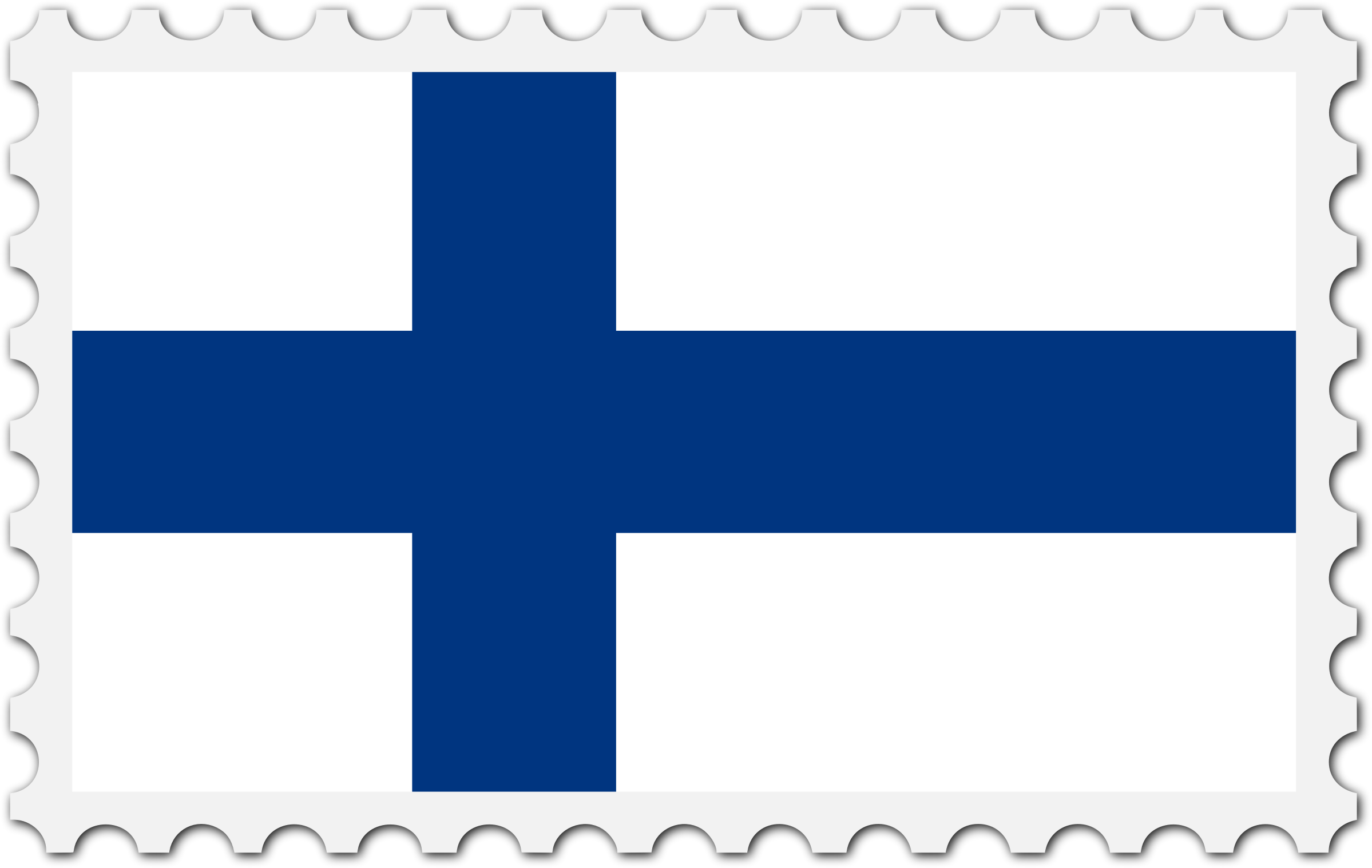 Finland flag stamp by Firkin