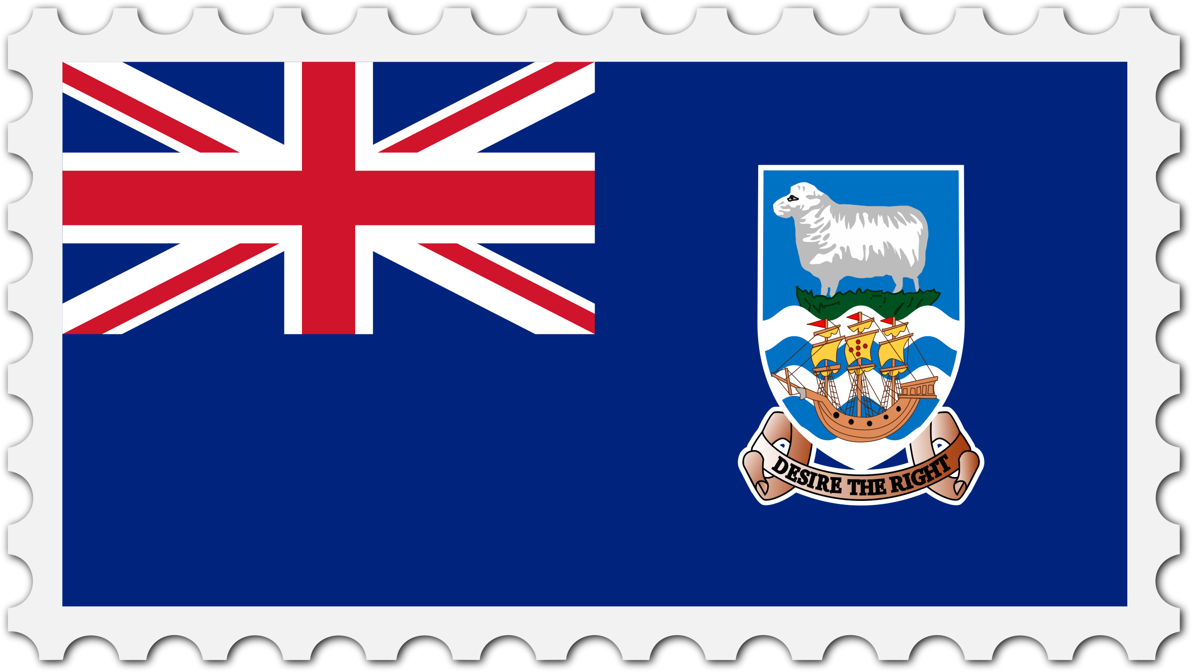 Falkland Islands flag stamp by Firkin