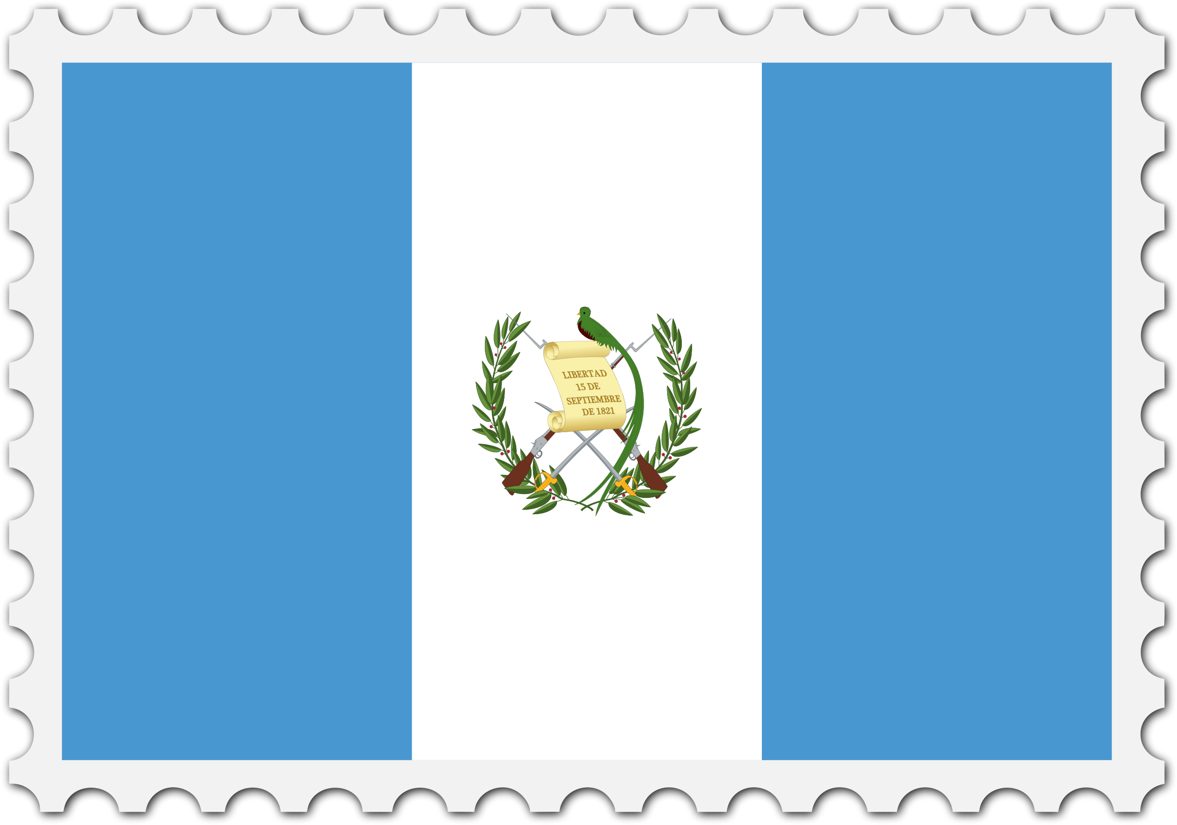 Guatemala flag stamp by Firkin