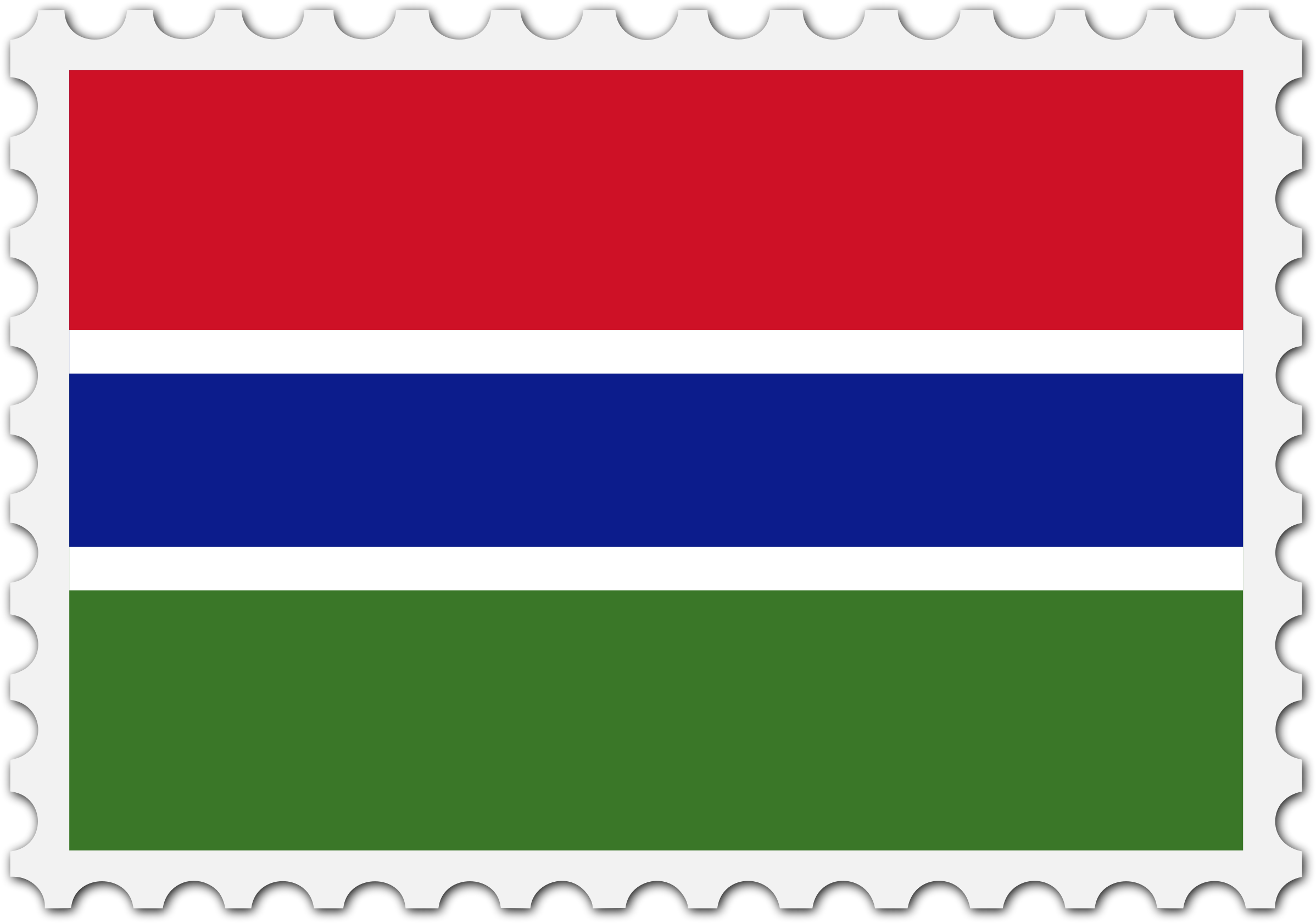Gambia flag stamp by Firkin