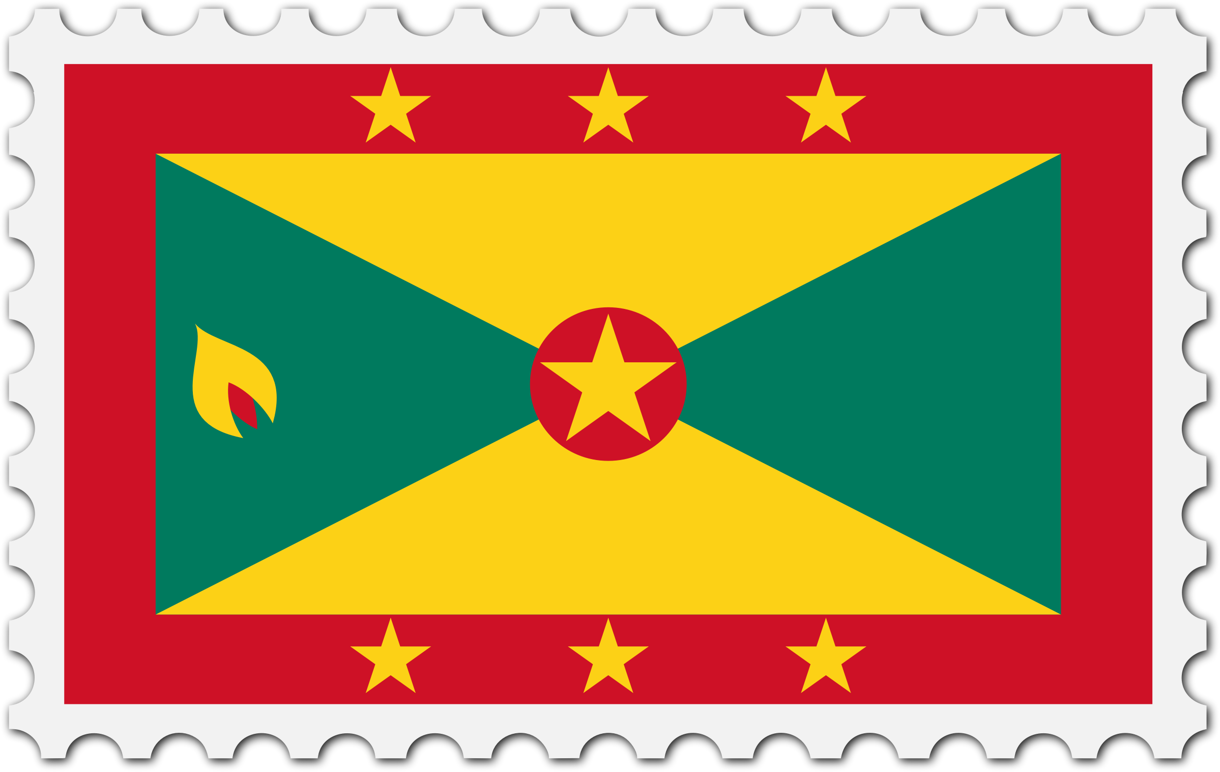 Grenada flag stamp by Firkin