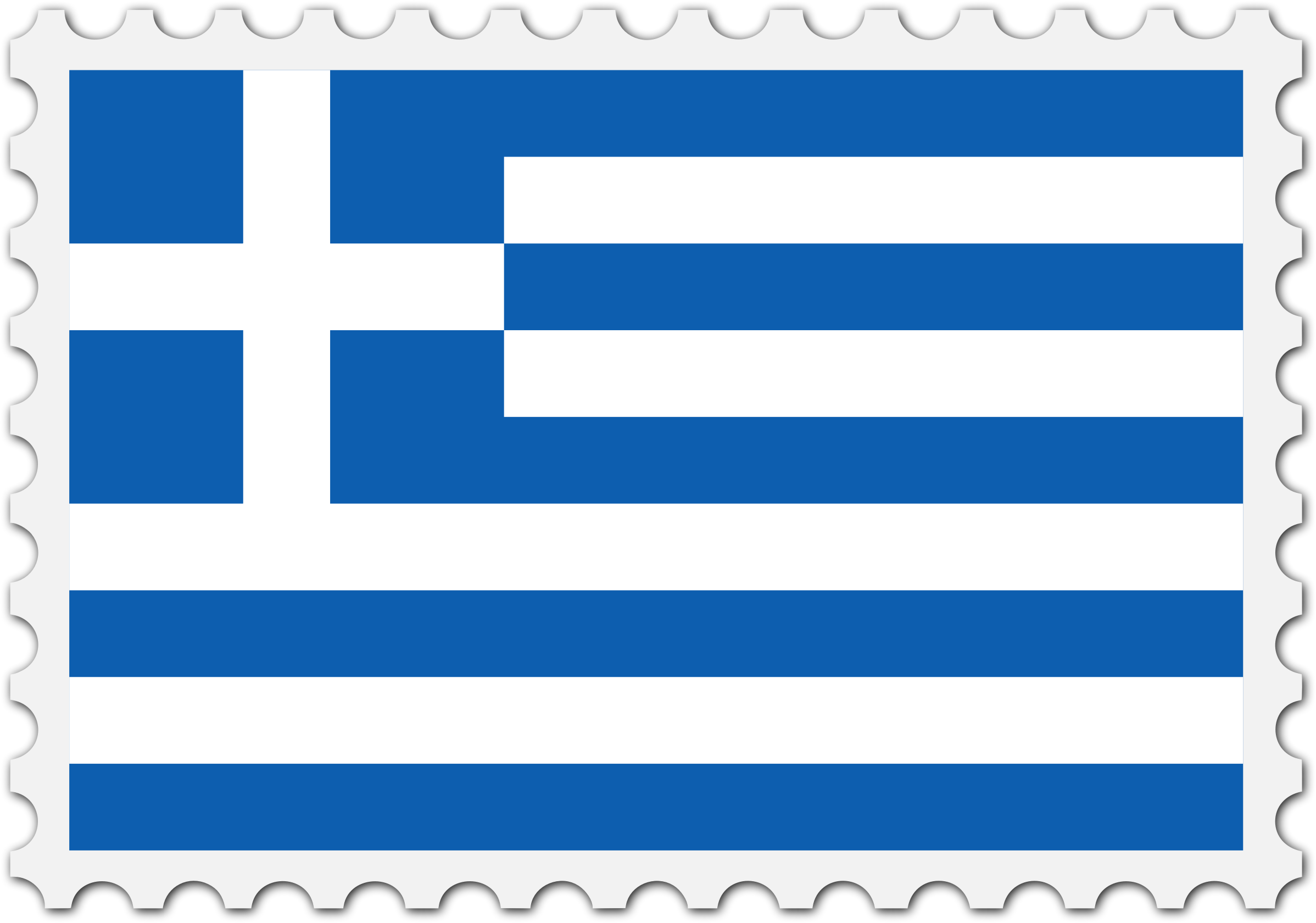 Greece flag stamp by Firkin