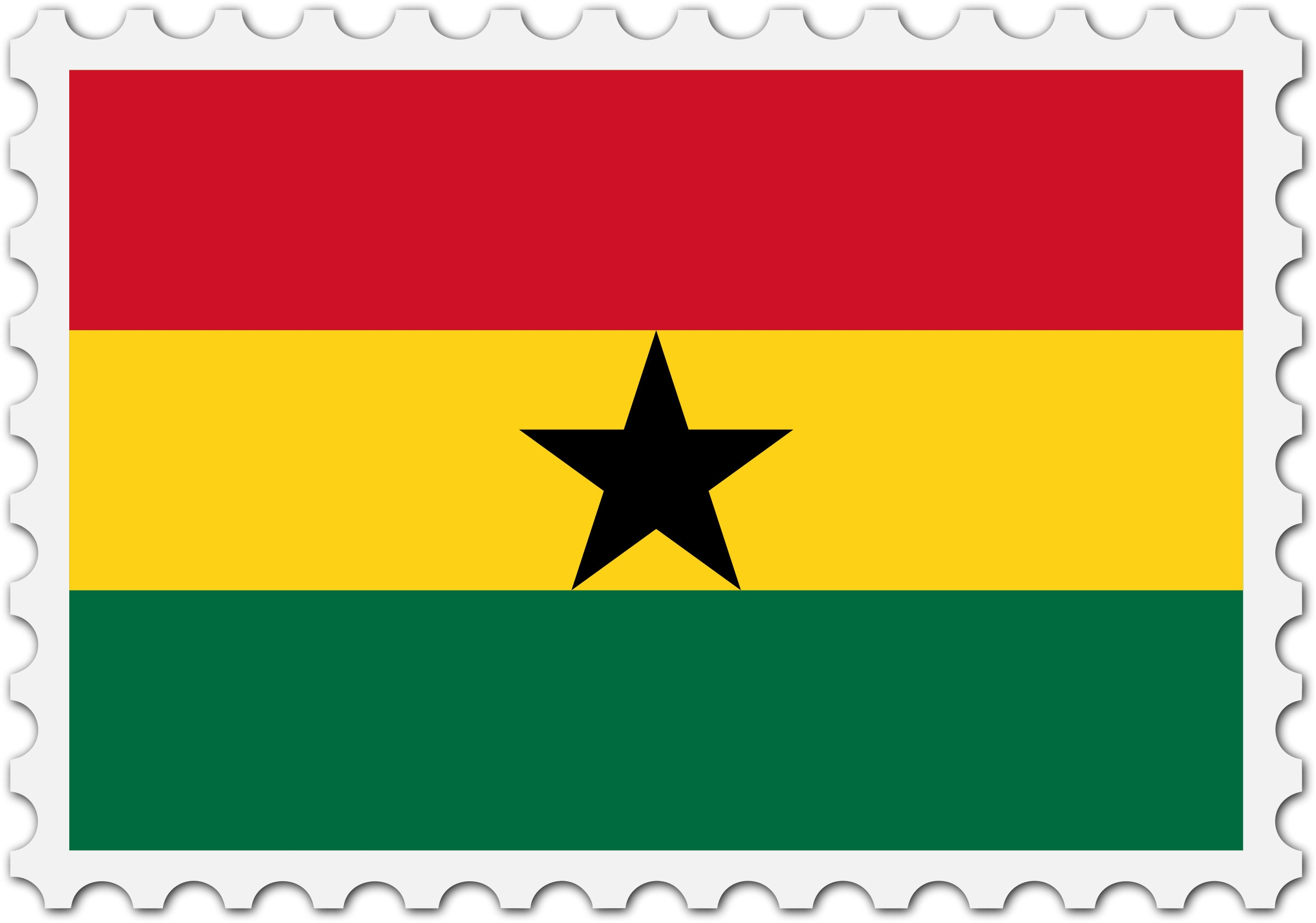 Ghana flag stamp by Firkin