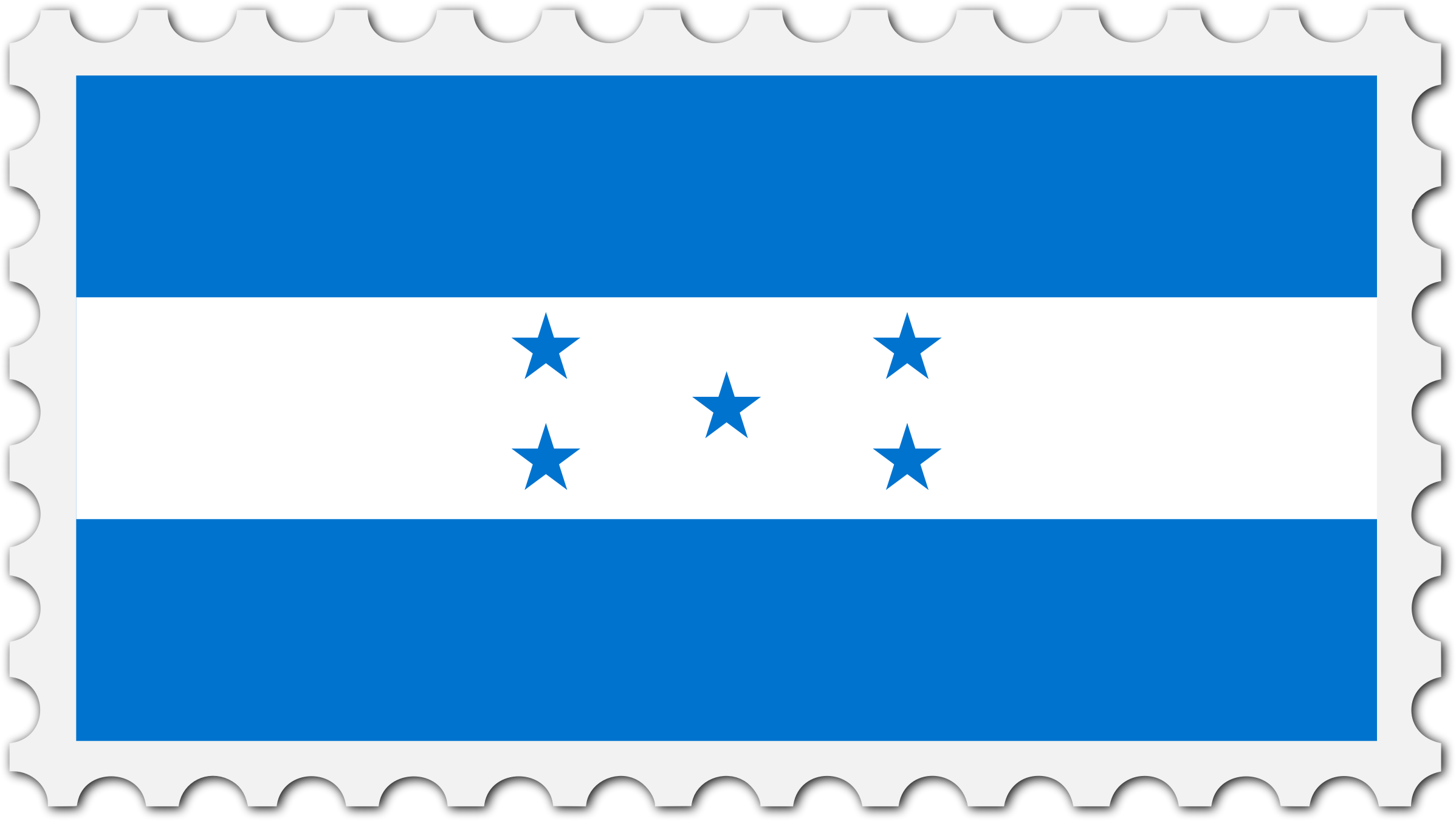 Honduras flag stamp by Firkin