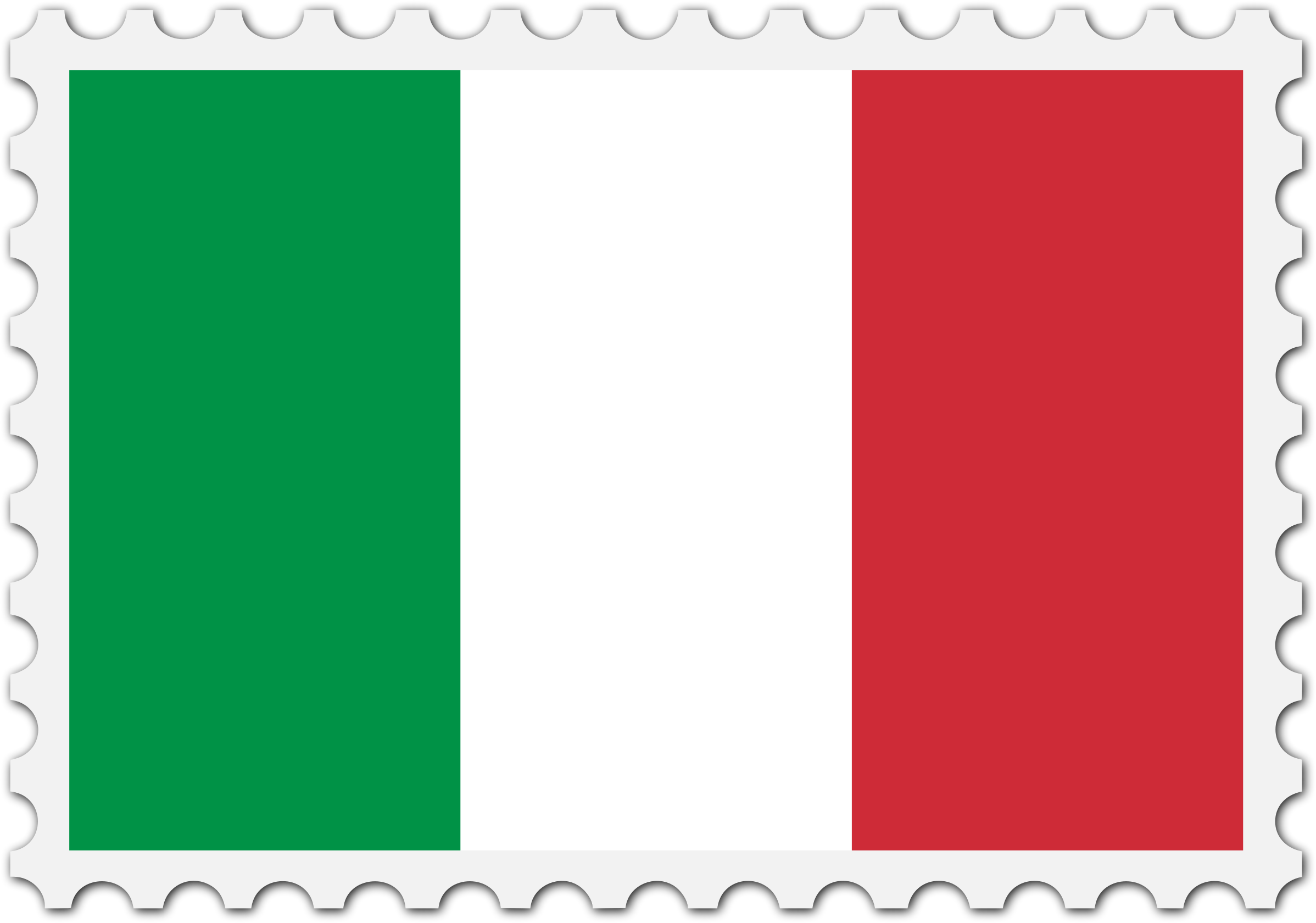 Italy flag stamp by Firkin