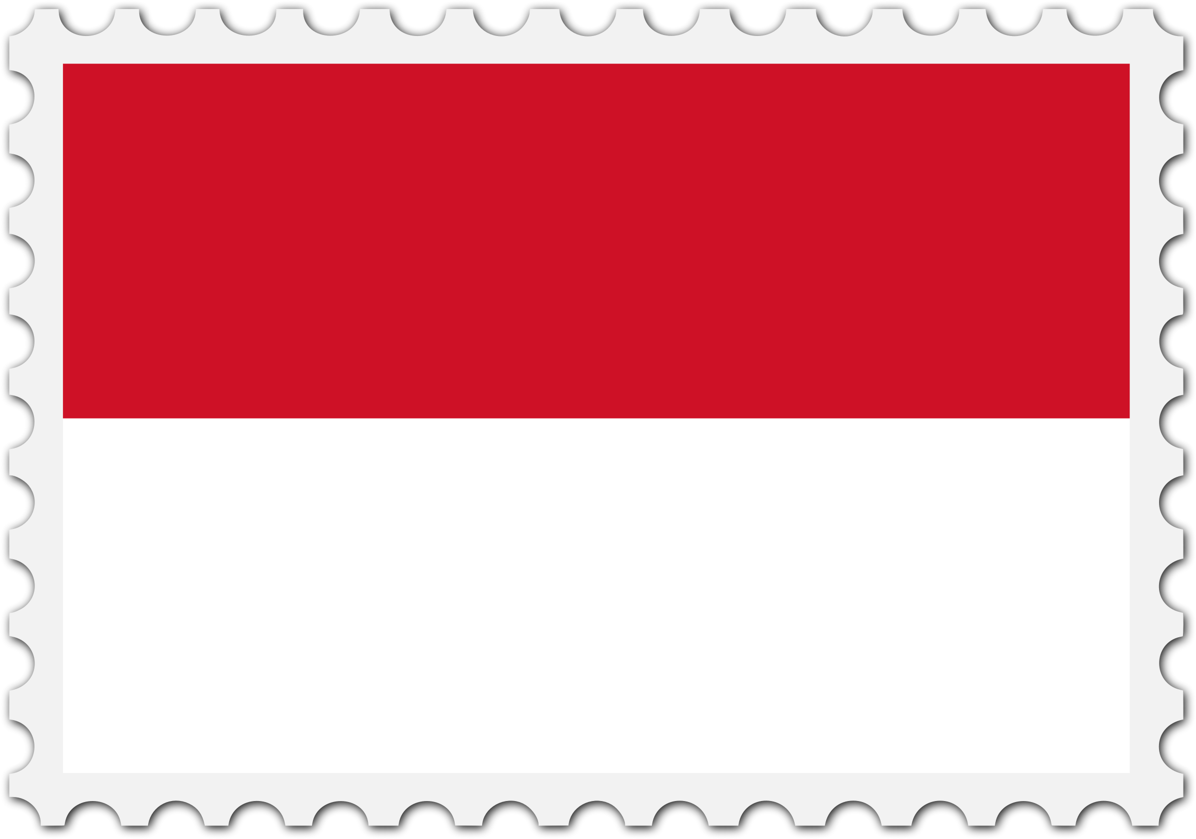 Indonesia flag stamp by Firkin