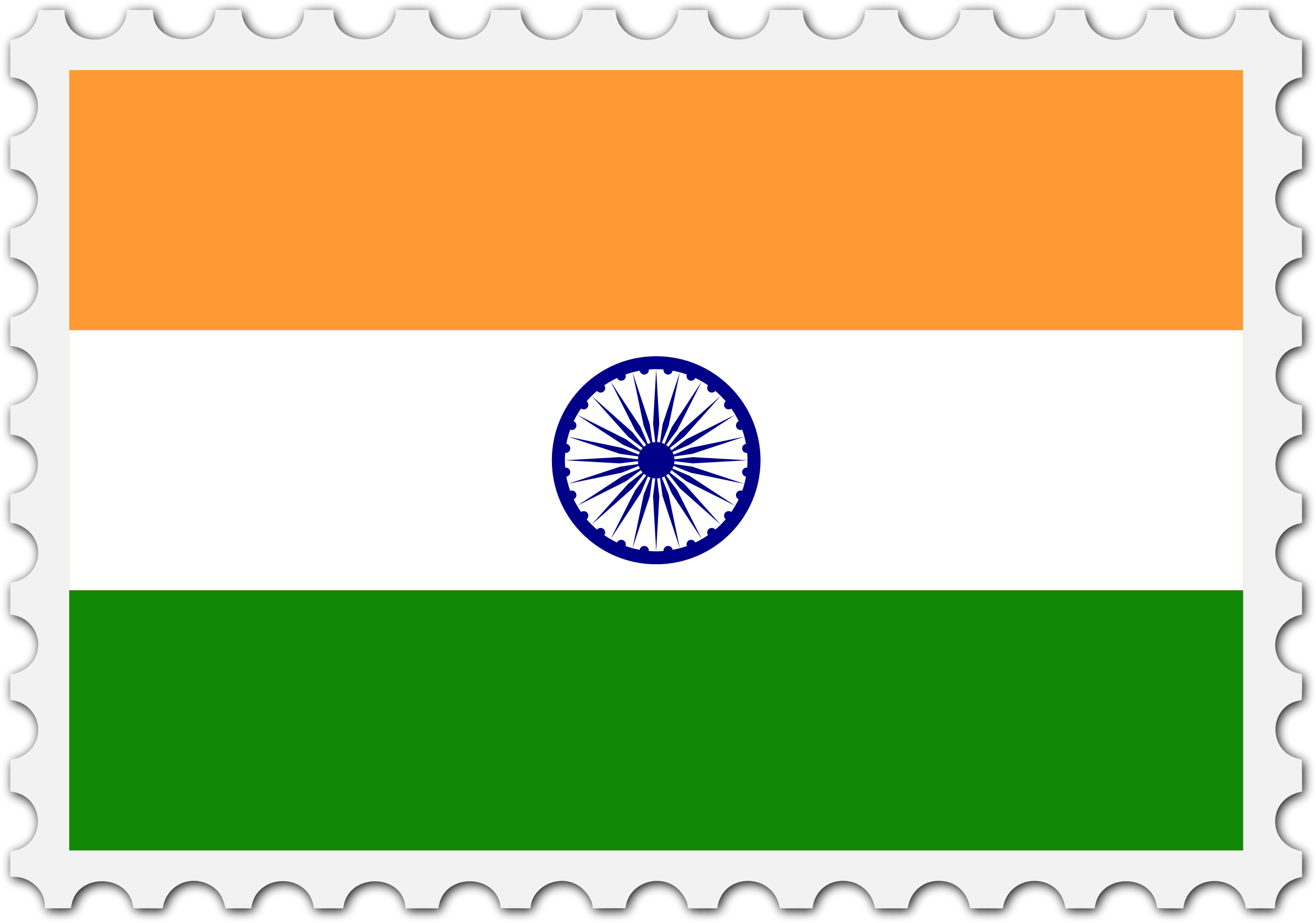 India flag stamp by Firkin