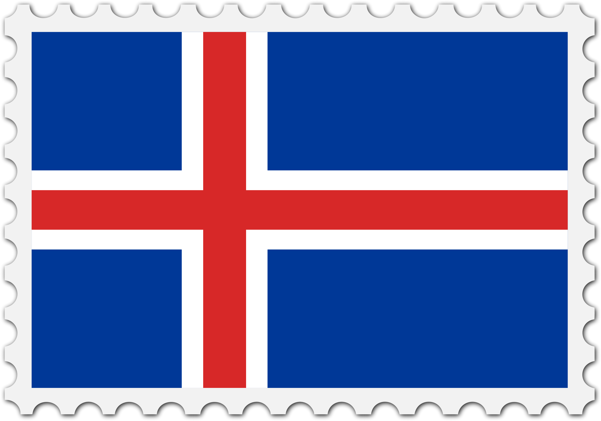 Iceland flag stamp by Firkin
