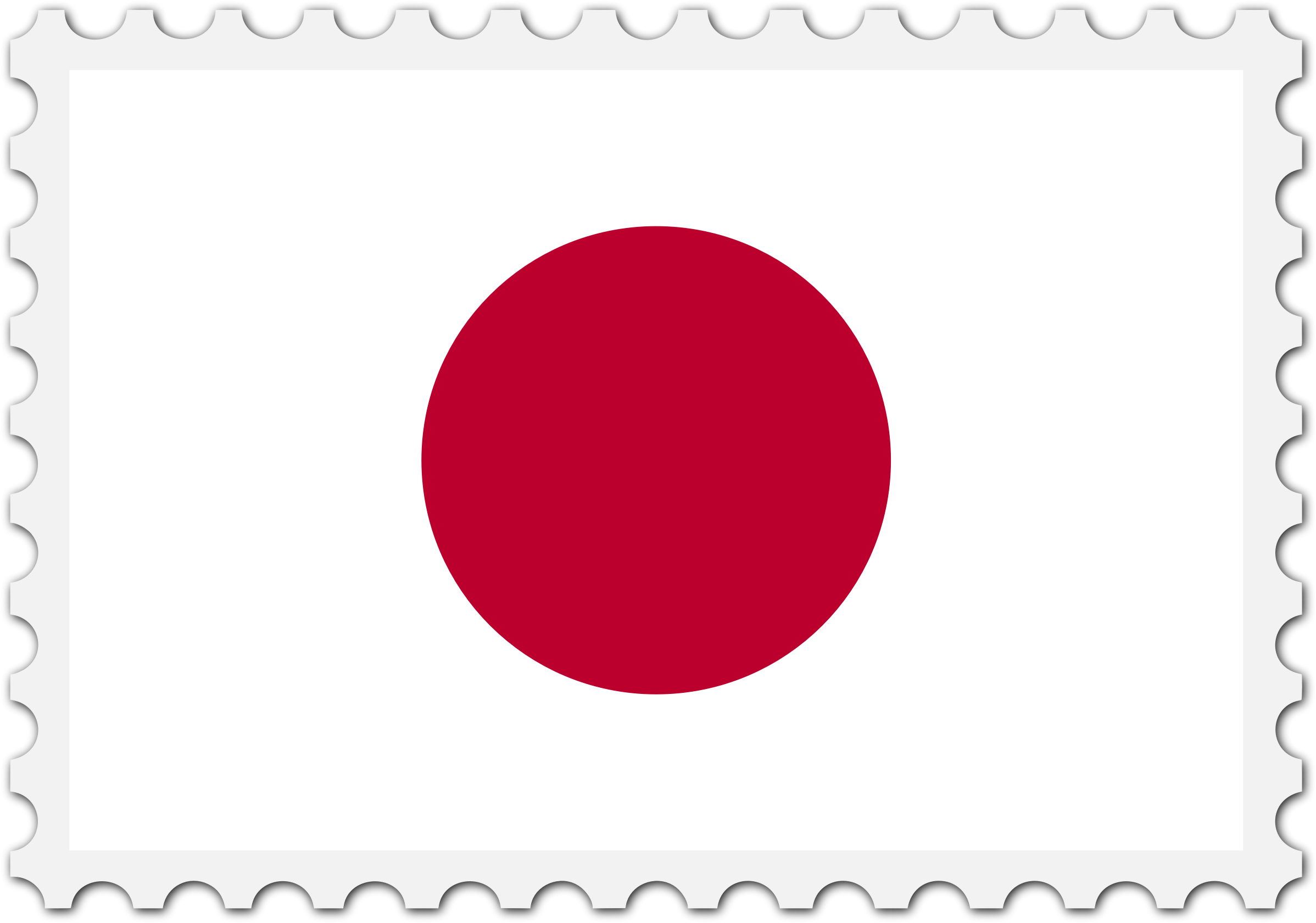 Japan flag stamp by Firkin
