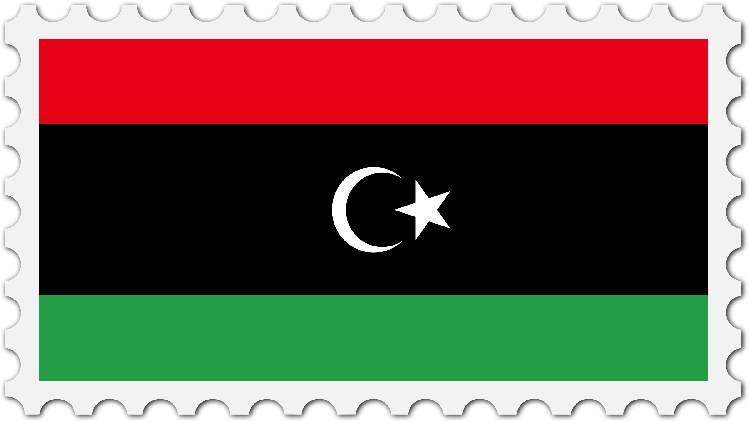 Libya flag stamp by Firkin