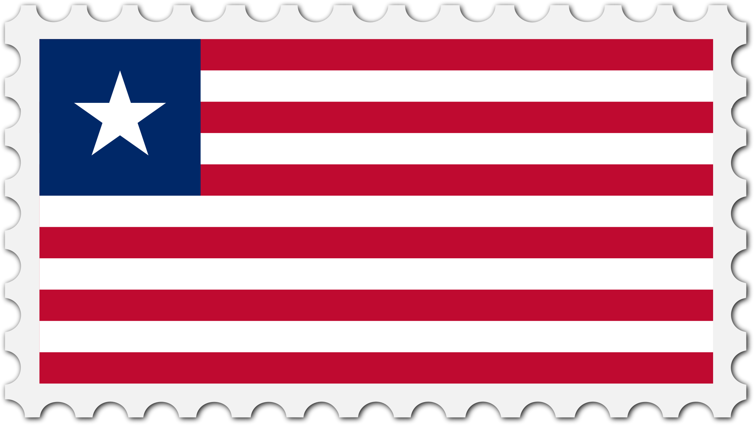 Liberia flag stamp by Firkin