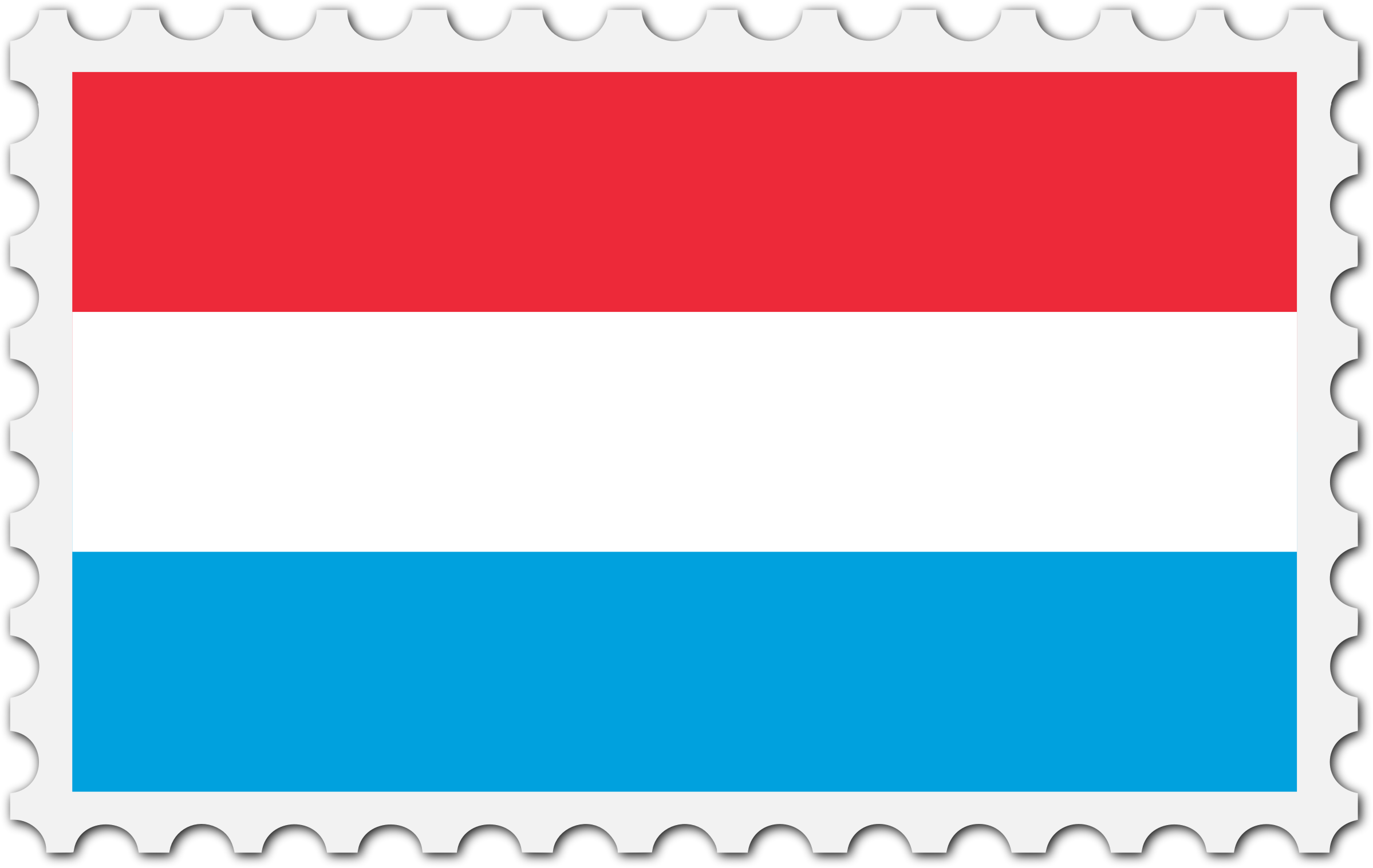 Luxembourg flag stamp by Firkin