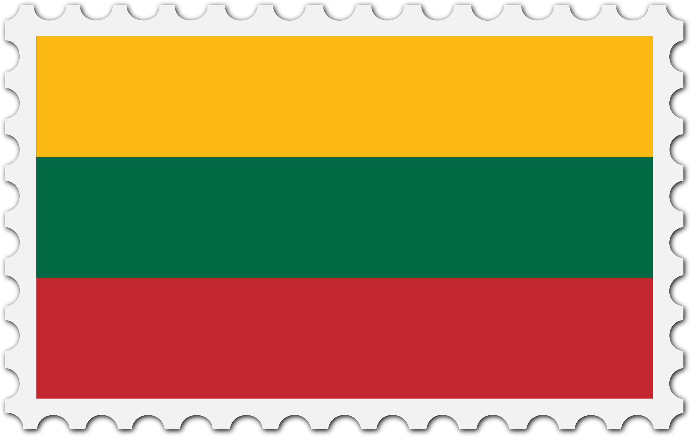 Lithuania flag stamp by Firkin