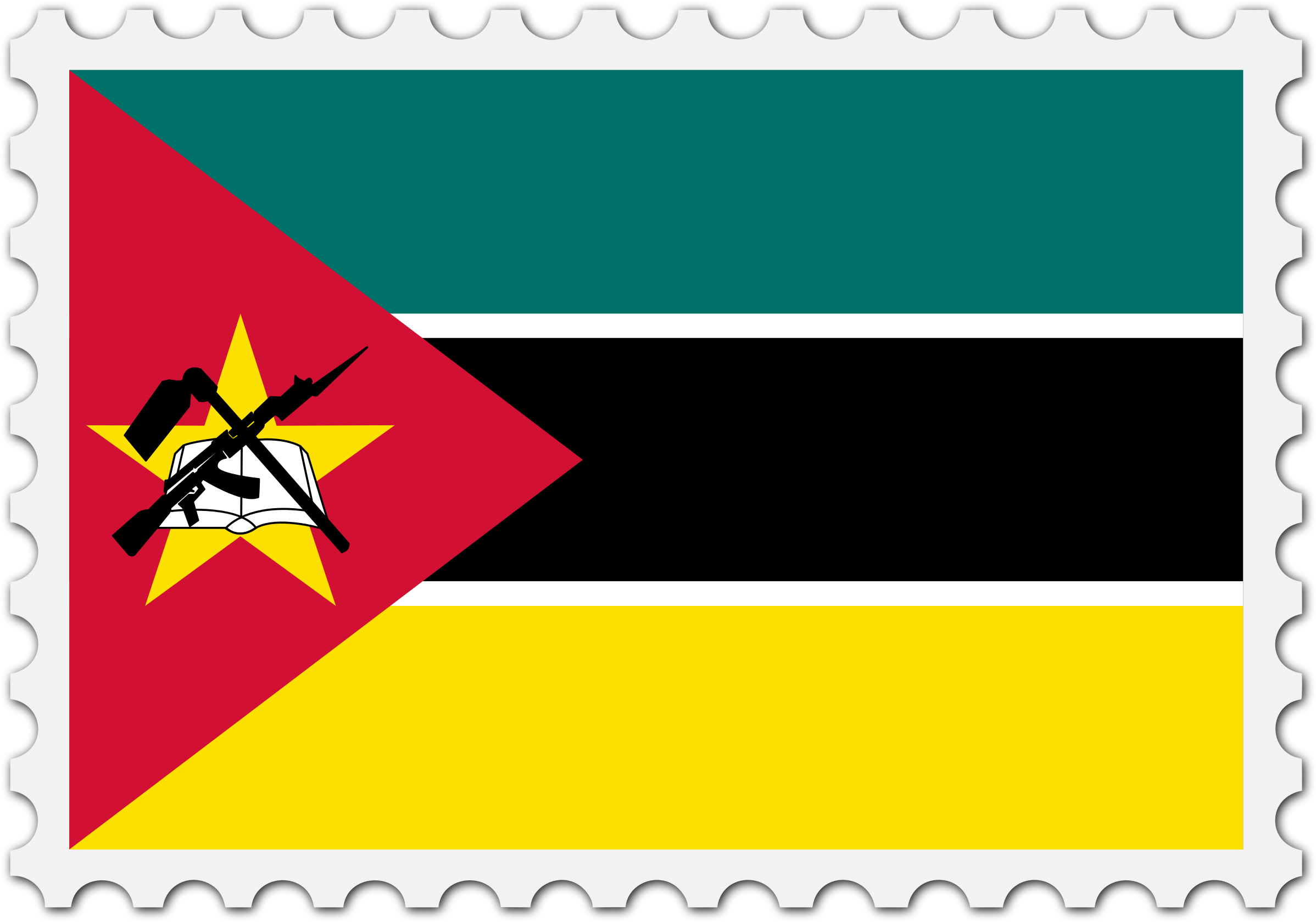 Mozambique flag stamp by Firkin