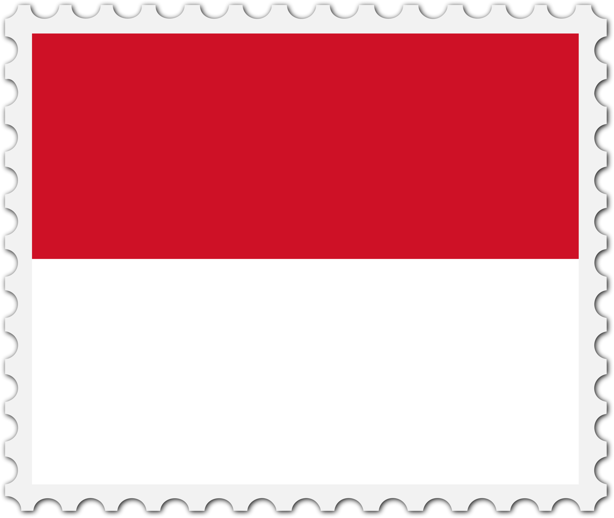 Monaco flag stamp by Firkin