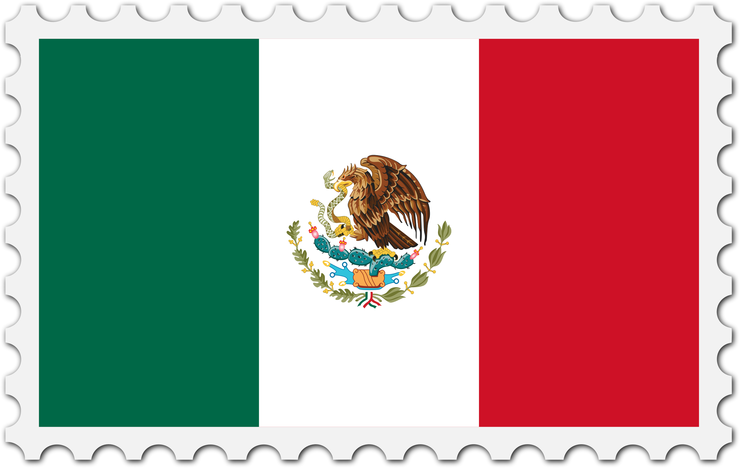 Mexico flag stamp by Firkin