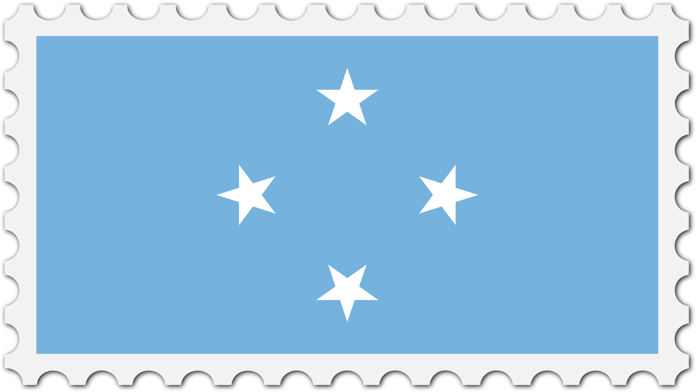 Micronesia flag stamp by Firkin