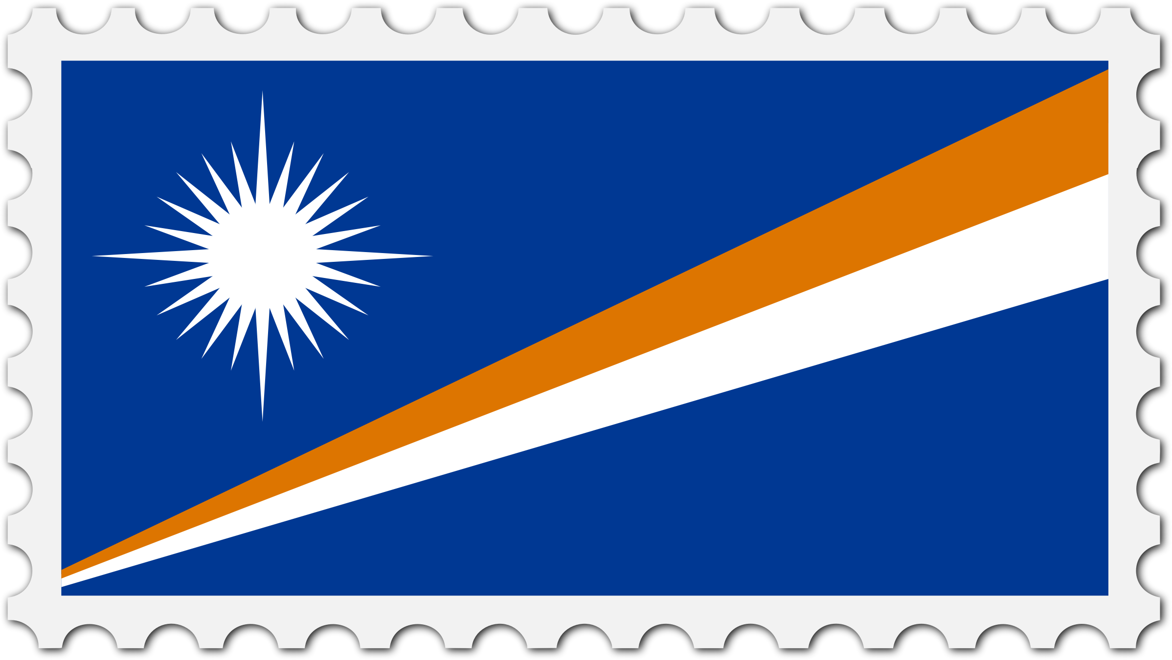 Marshall Islands flag stamp by Firkin
