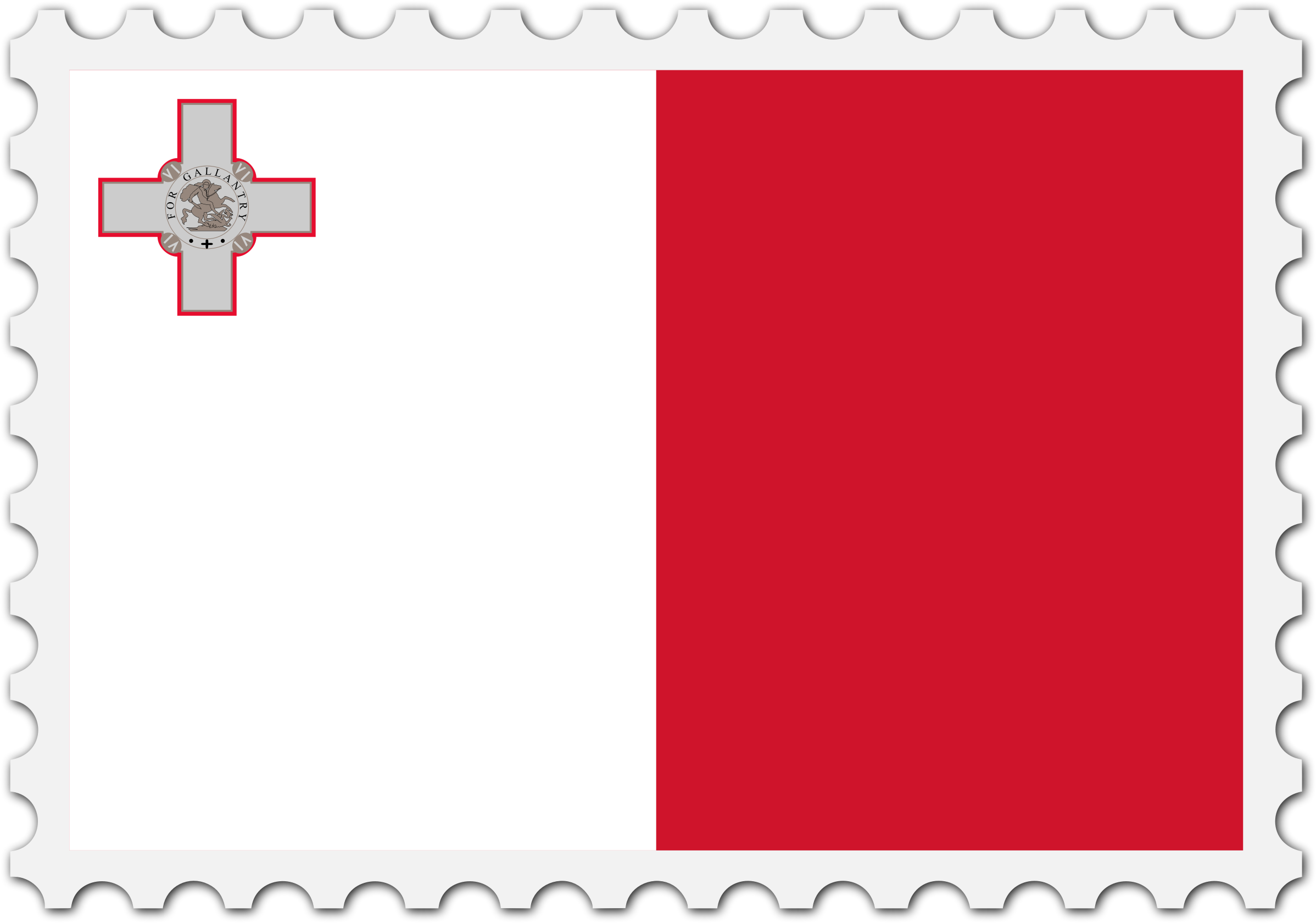 Malta flag stamp by Firkin