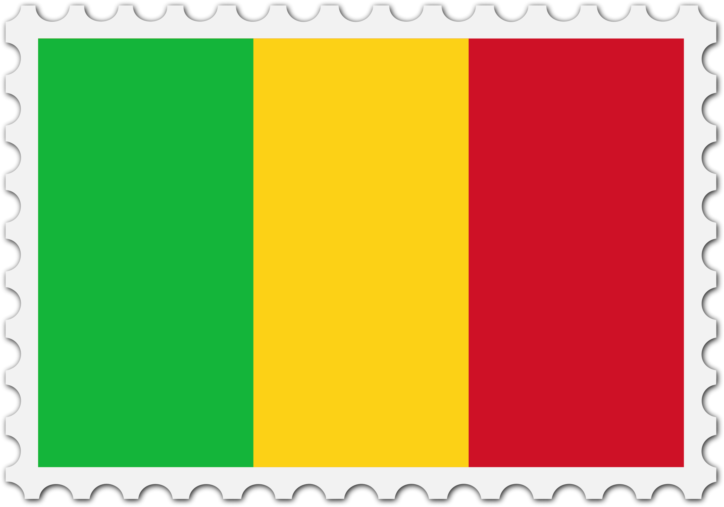 Mali flag stamp by Firkin