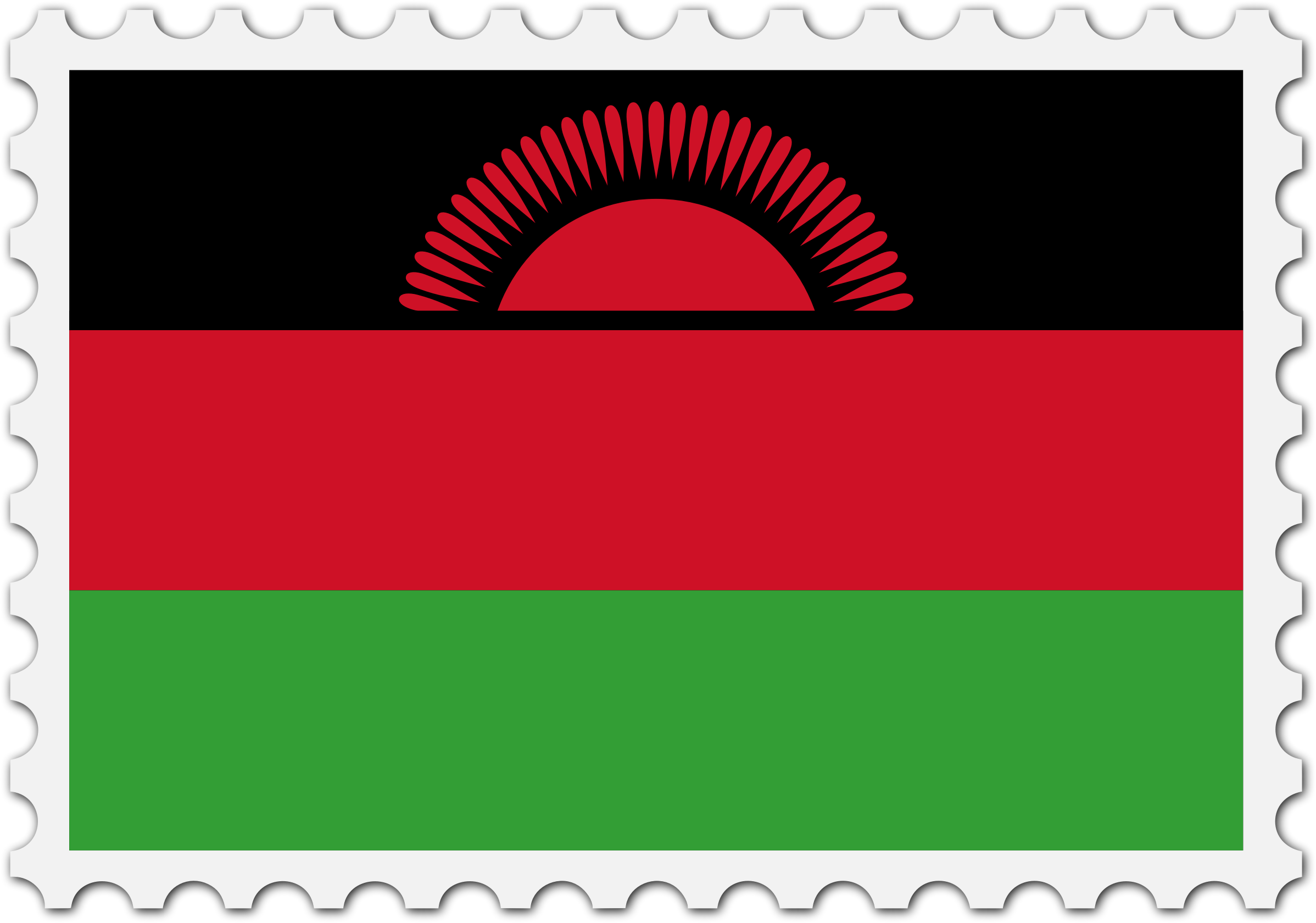 Malawi flag stamp by Firkin