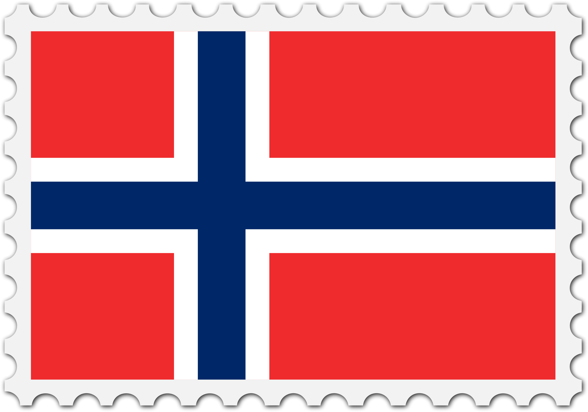 Norway flag stamp by Firkin