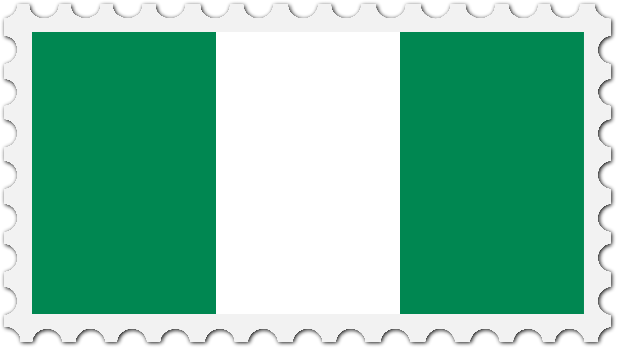 Nigeria flag stamp by Firkin