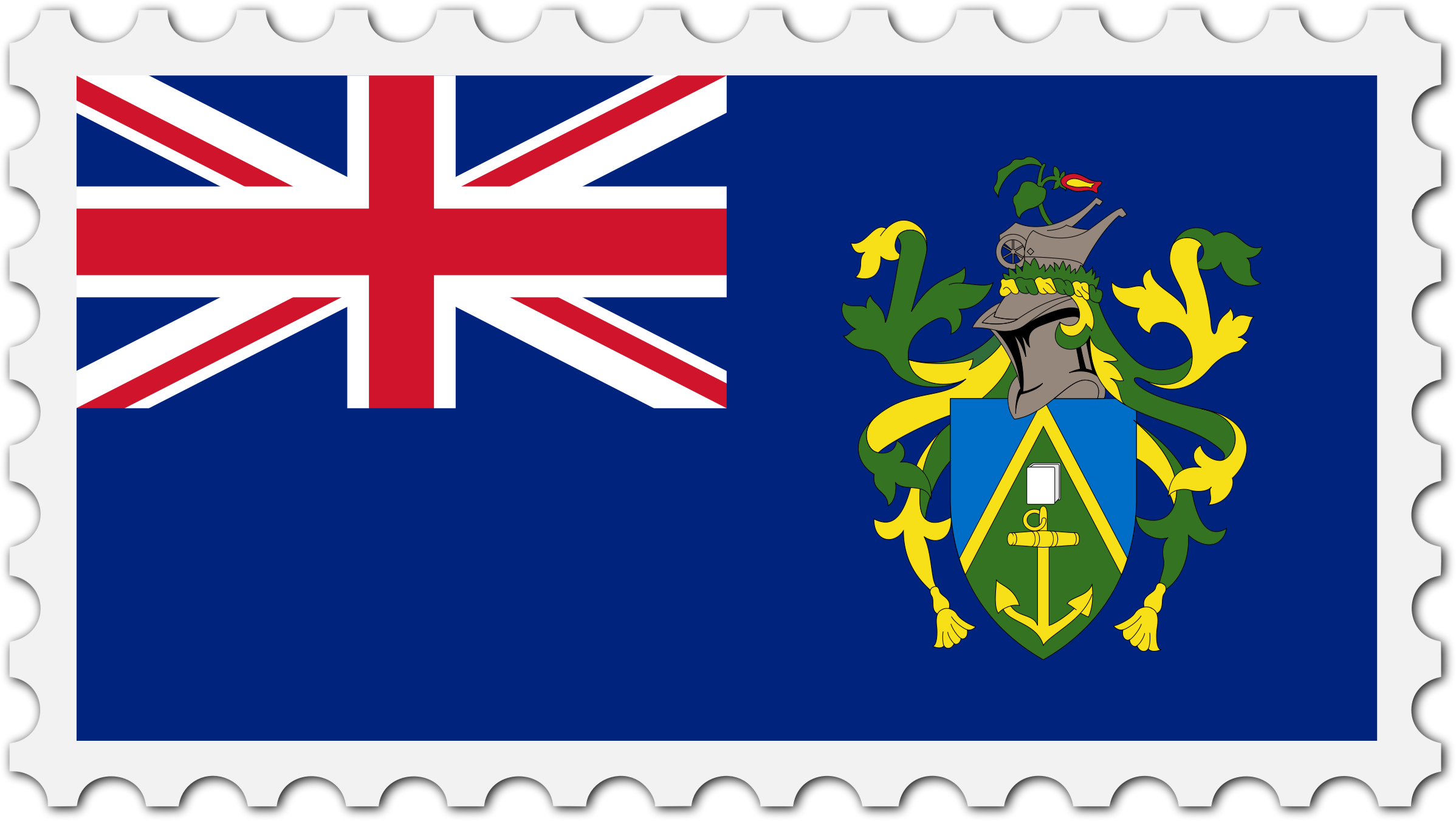 Pitcairn Islands flag stamp by Firkin