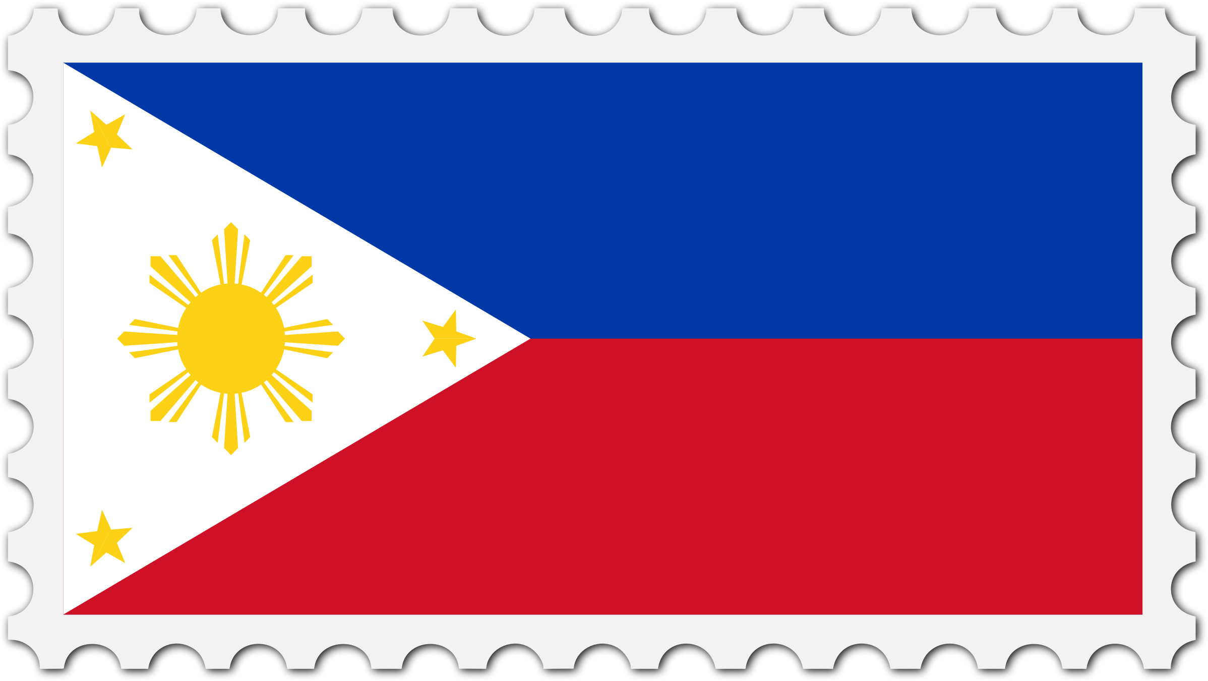 Philippines flag stamp by Firkin