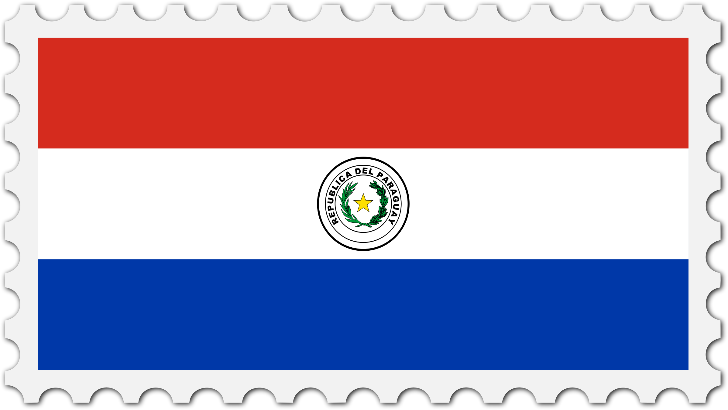 Paraguay flag stamp by Firkin
