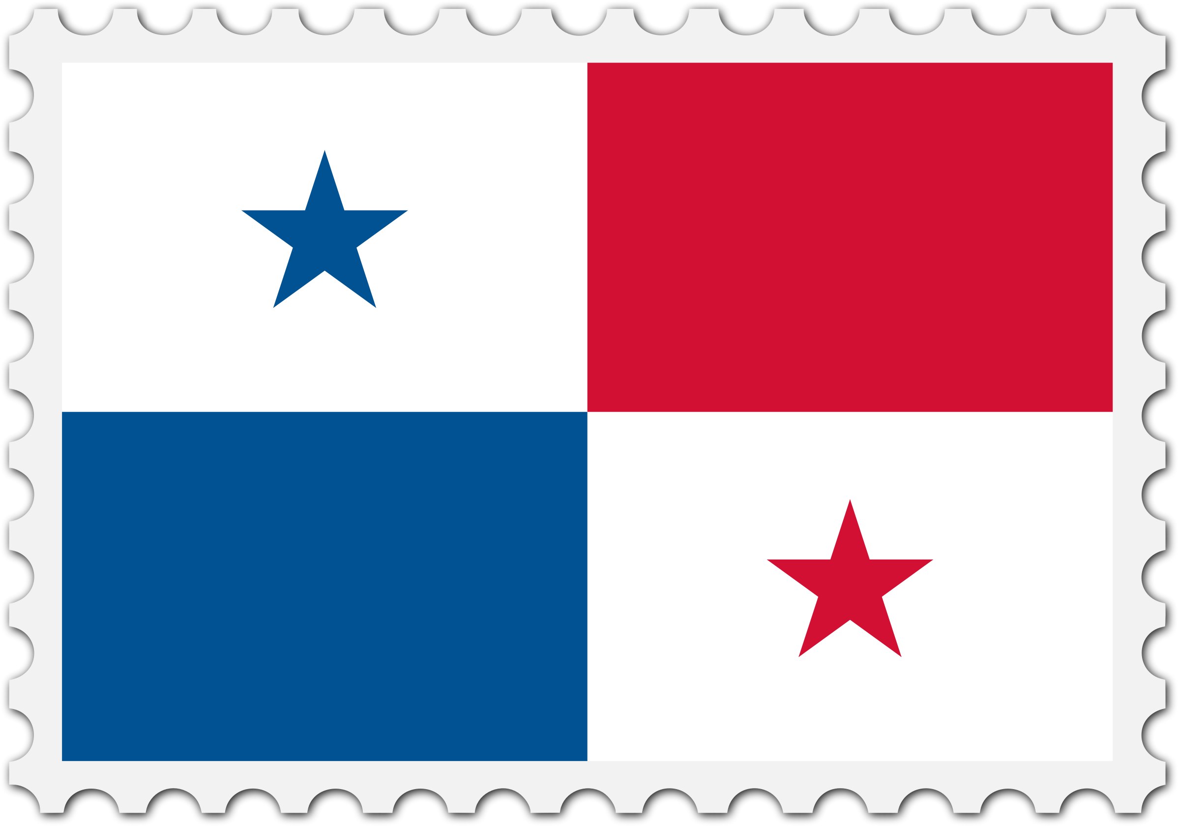 Panama flag stamp by Firkin