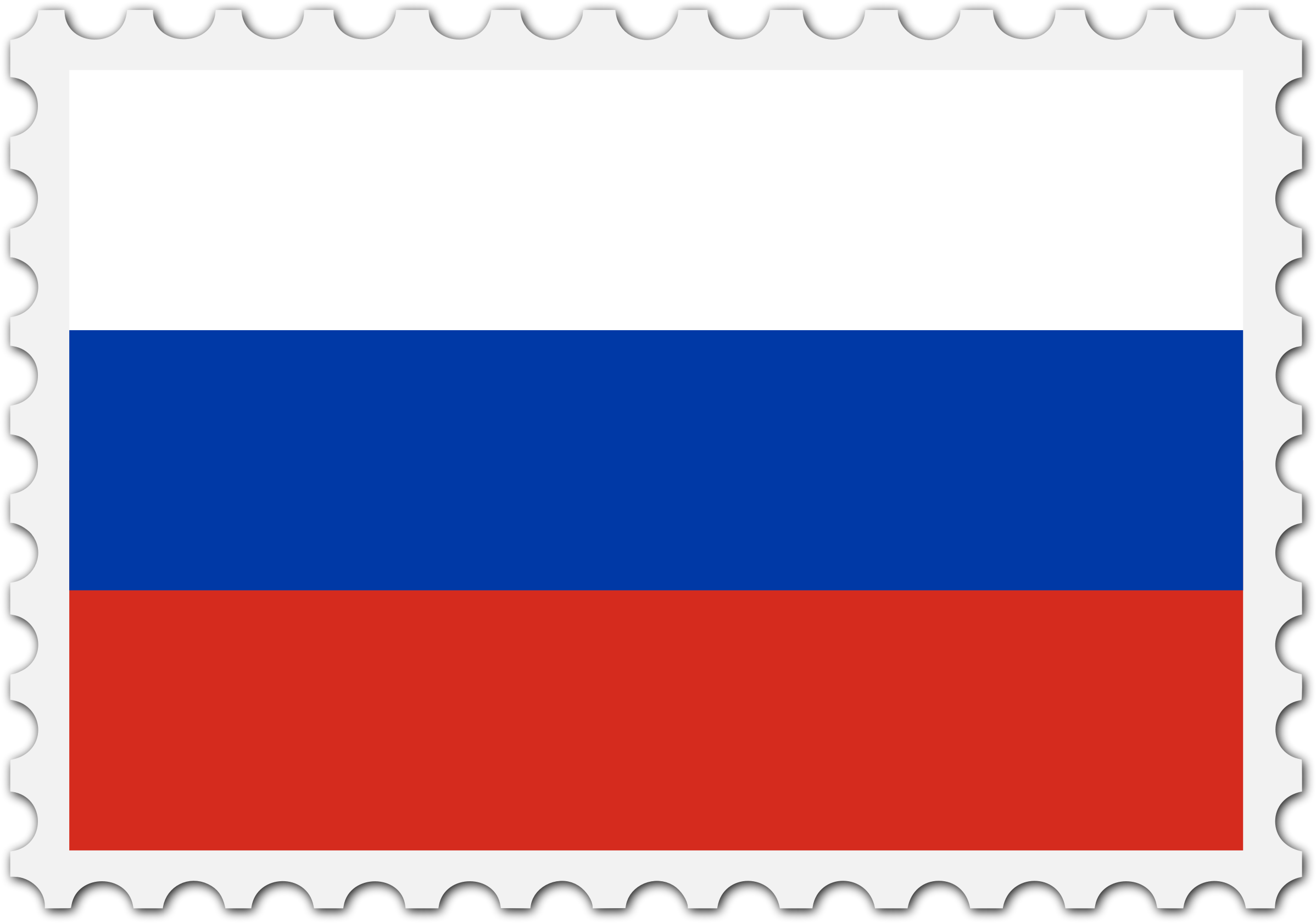 Russia flag stamp by Firkin