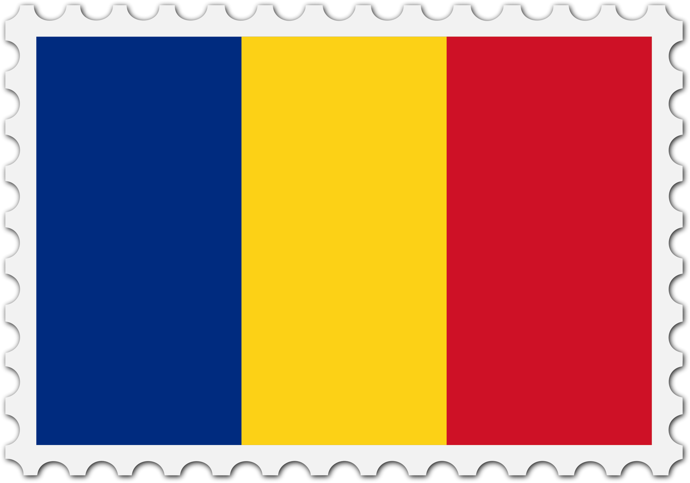 Romania flag stamp by Firkin
