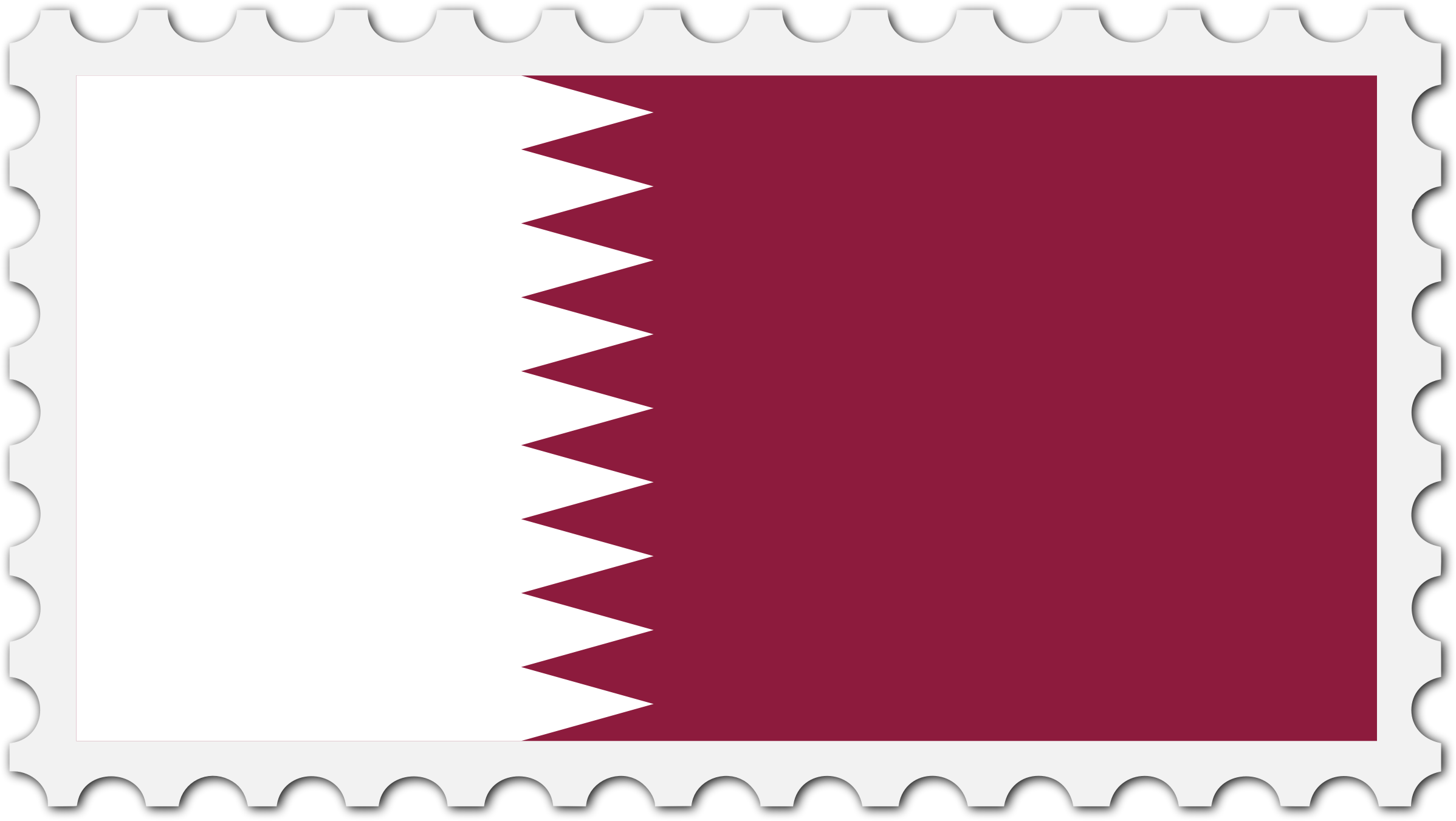 Qatar flag stamp by Firkin