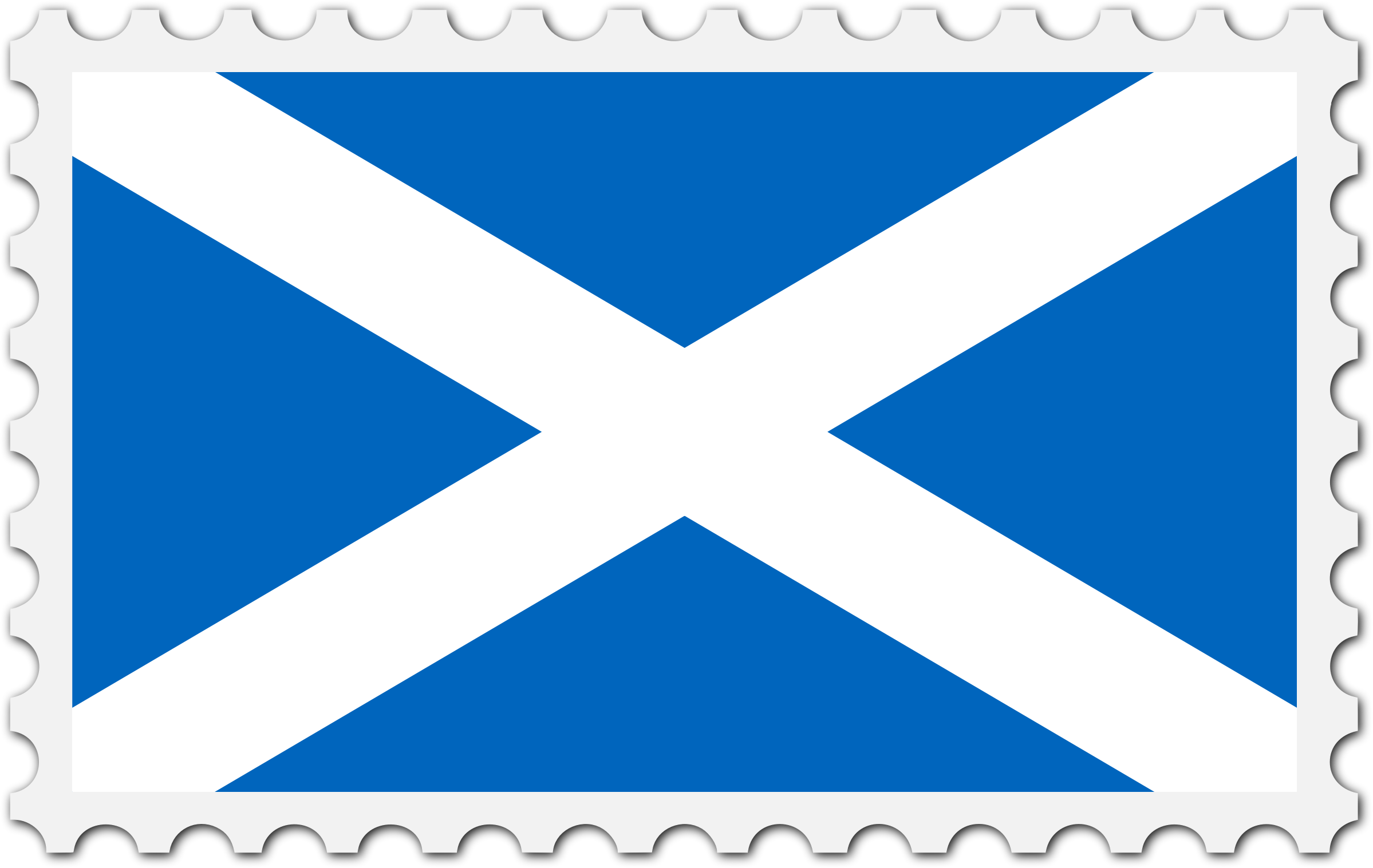 Scotland flag stamp by Firkin