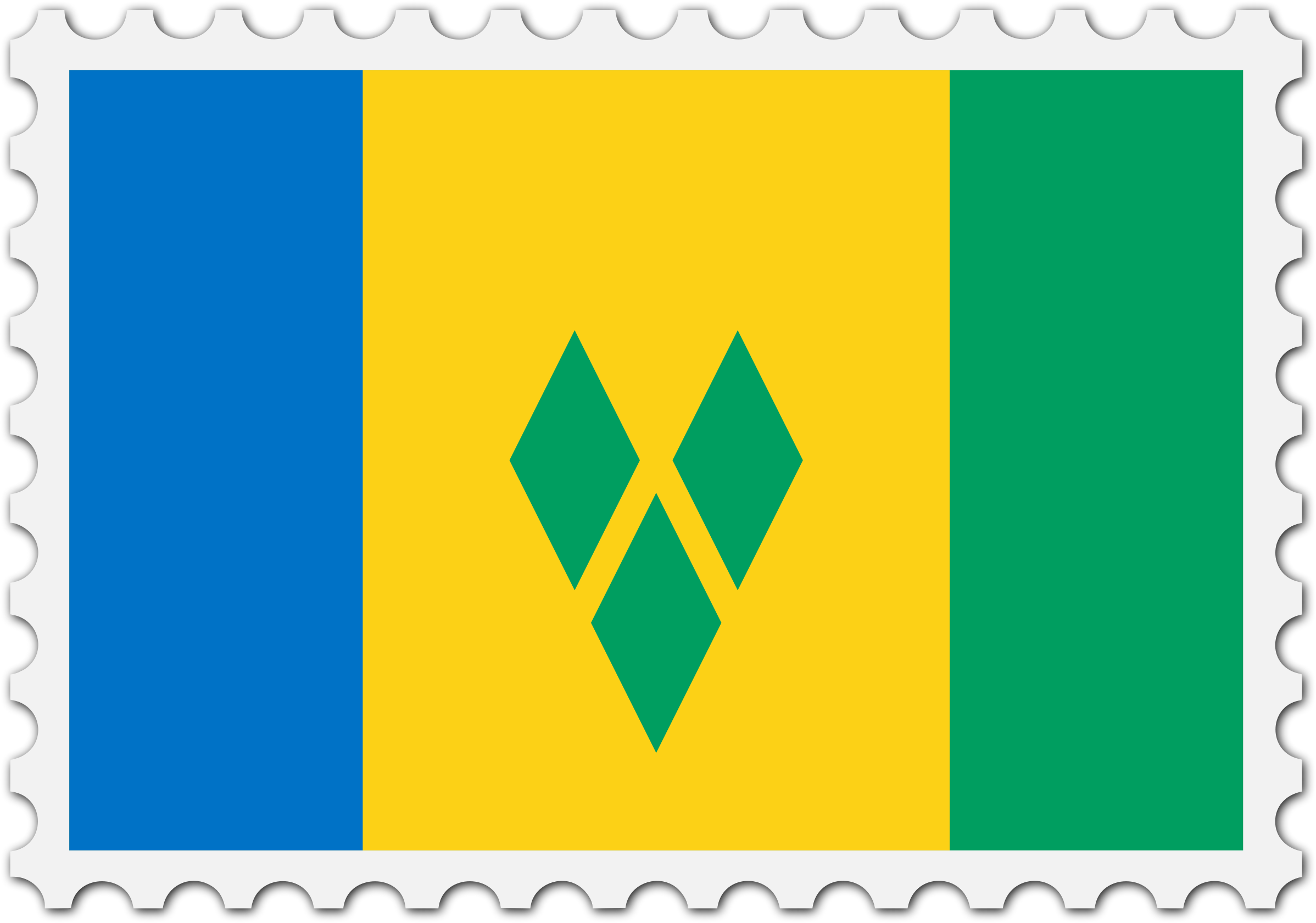 Saint Vincent and the Grenadines flag stamp by Firkin