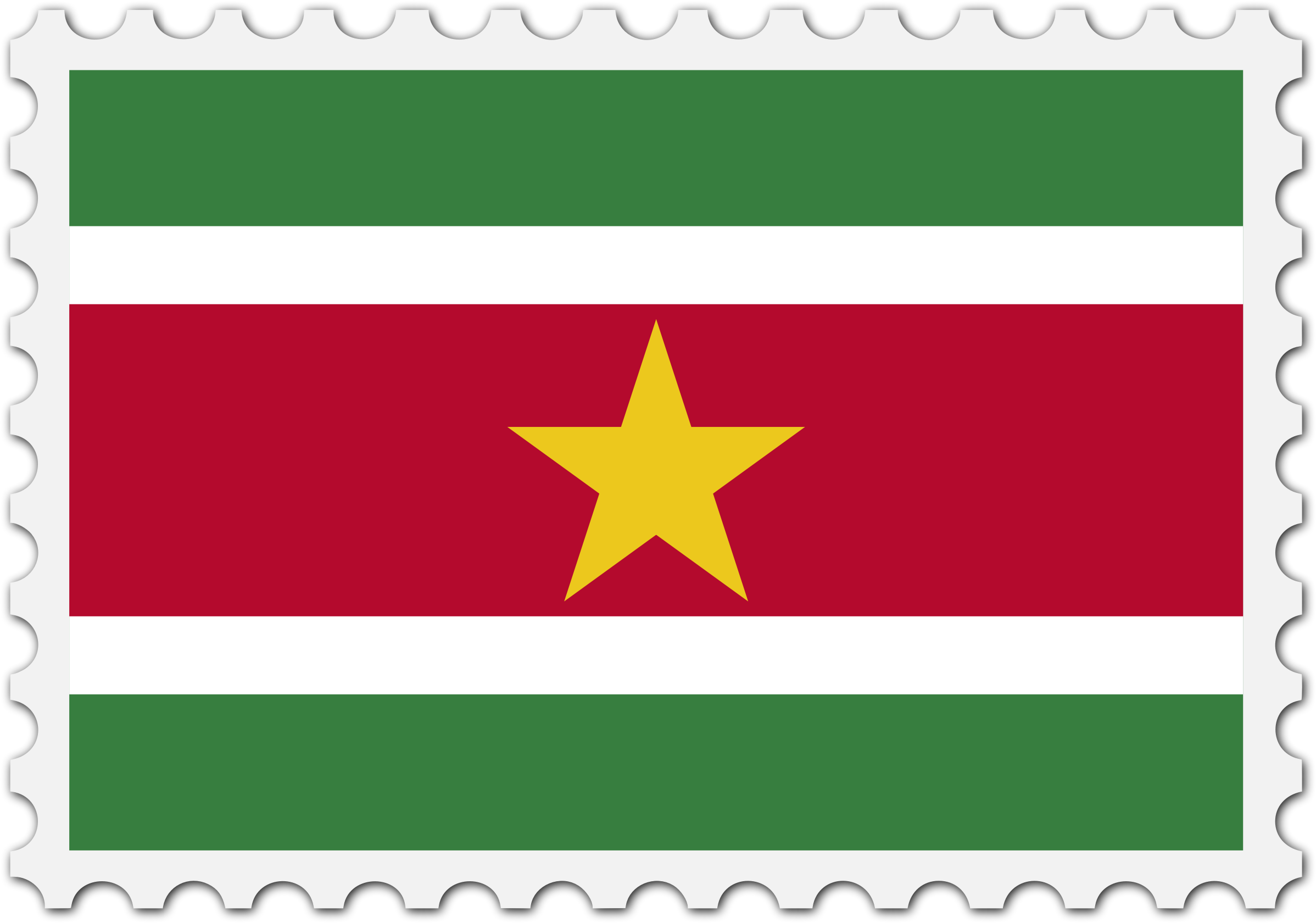 Suriname flag stamp by Firkin