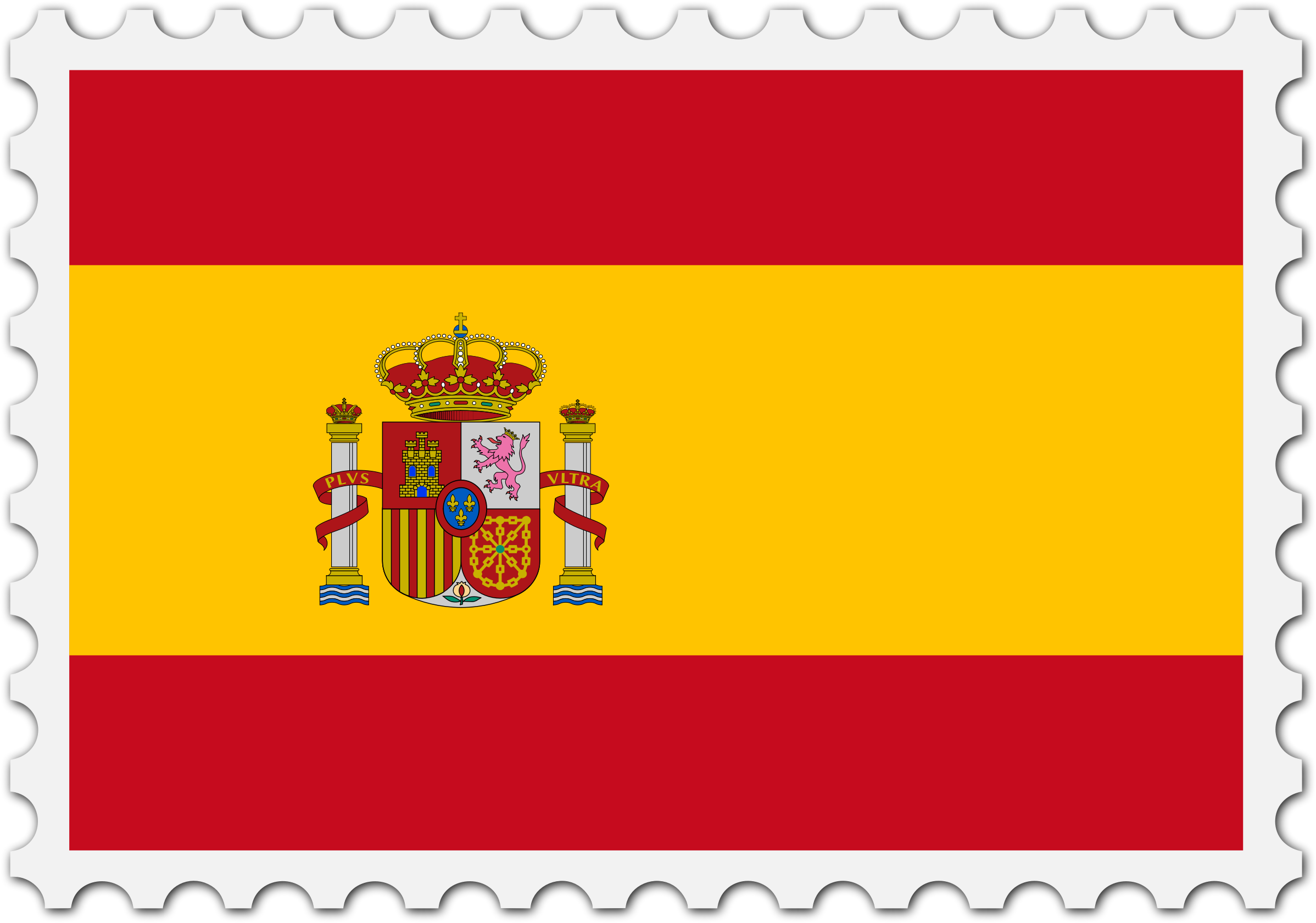 Spain flag stamp by Firkin