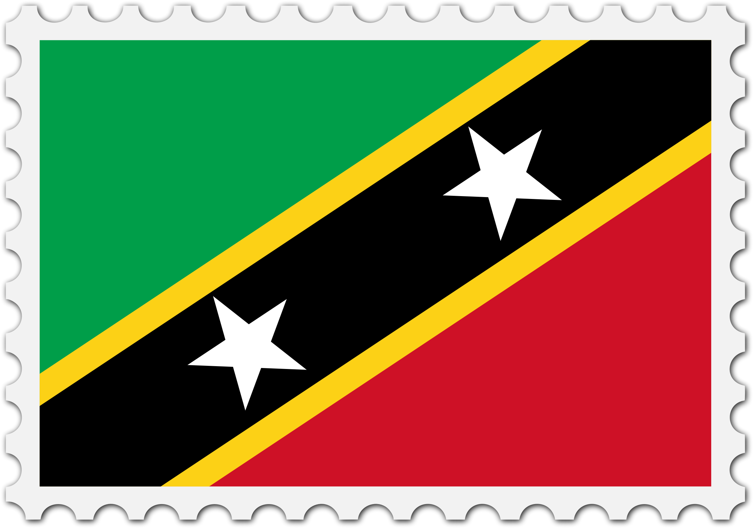 St Kitts and Nevis flag stamp by Firkin