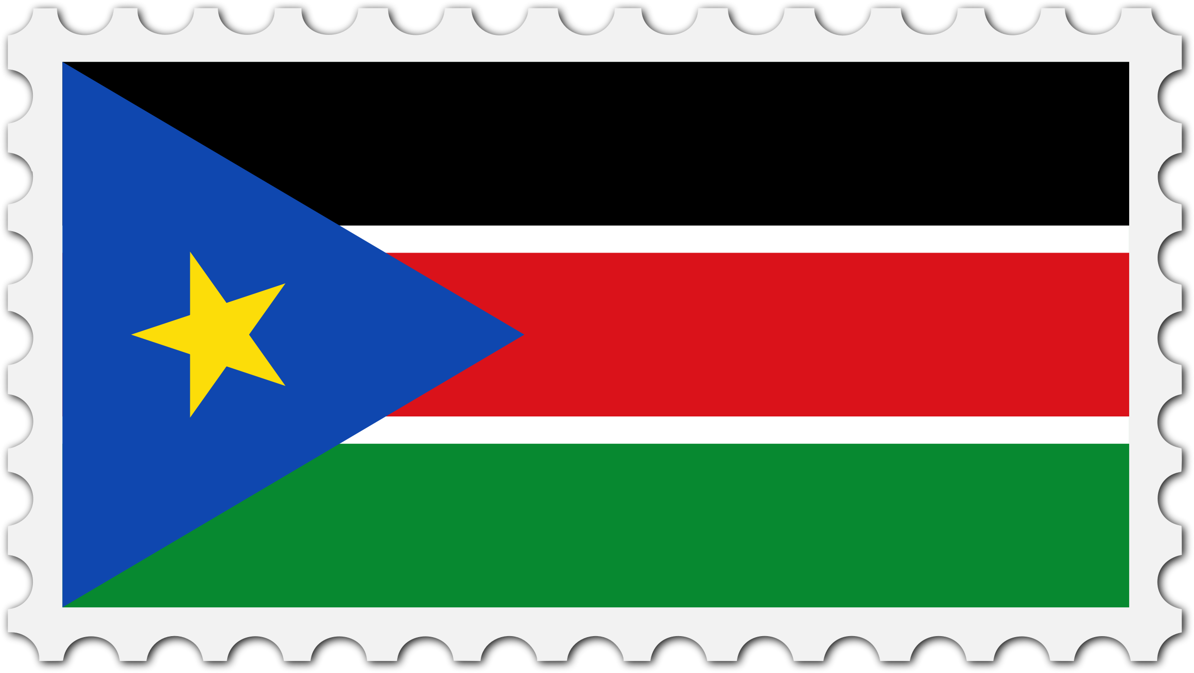 South Sudan flag stamp by Firkin
