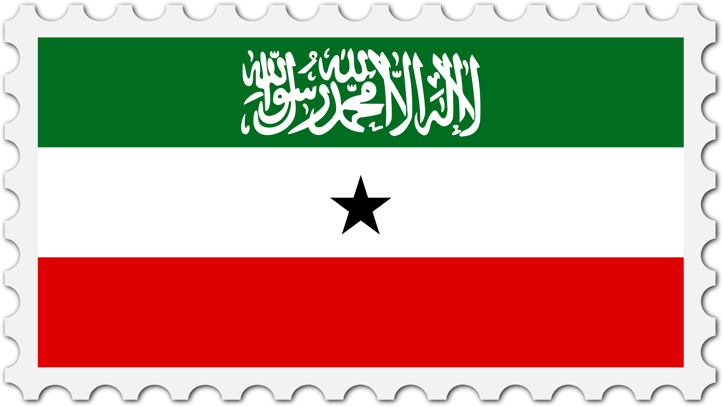 Somaliland flag stamp by Firkin
