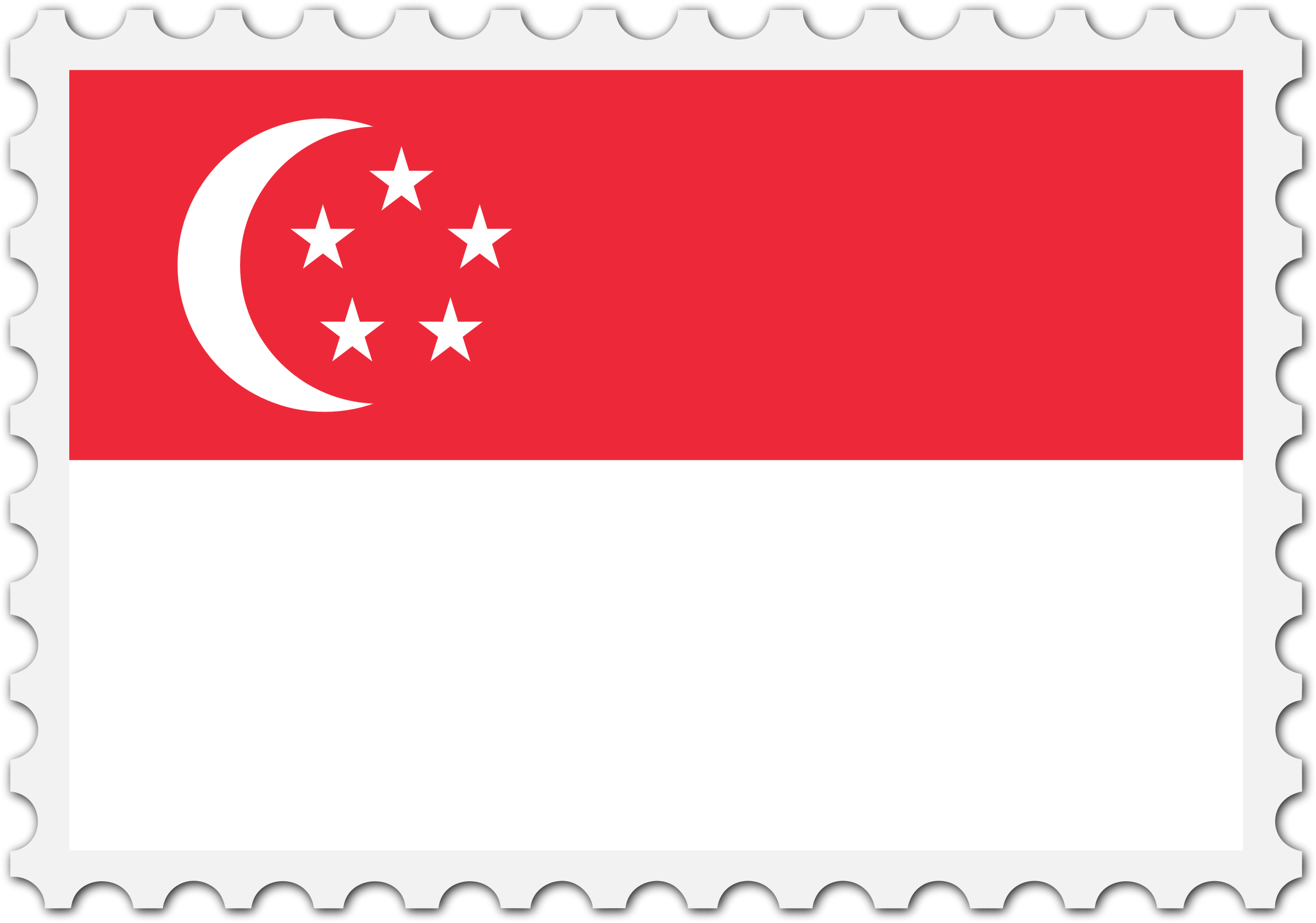 Singapore flag stamp by Firkin