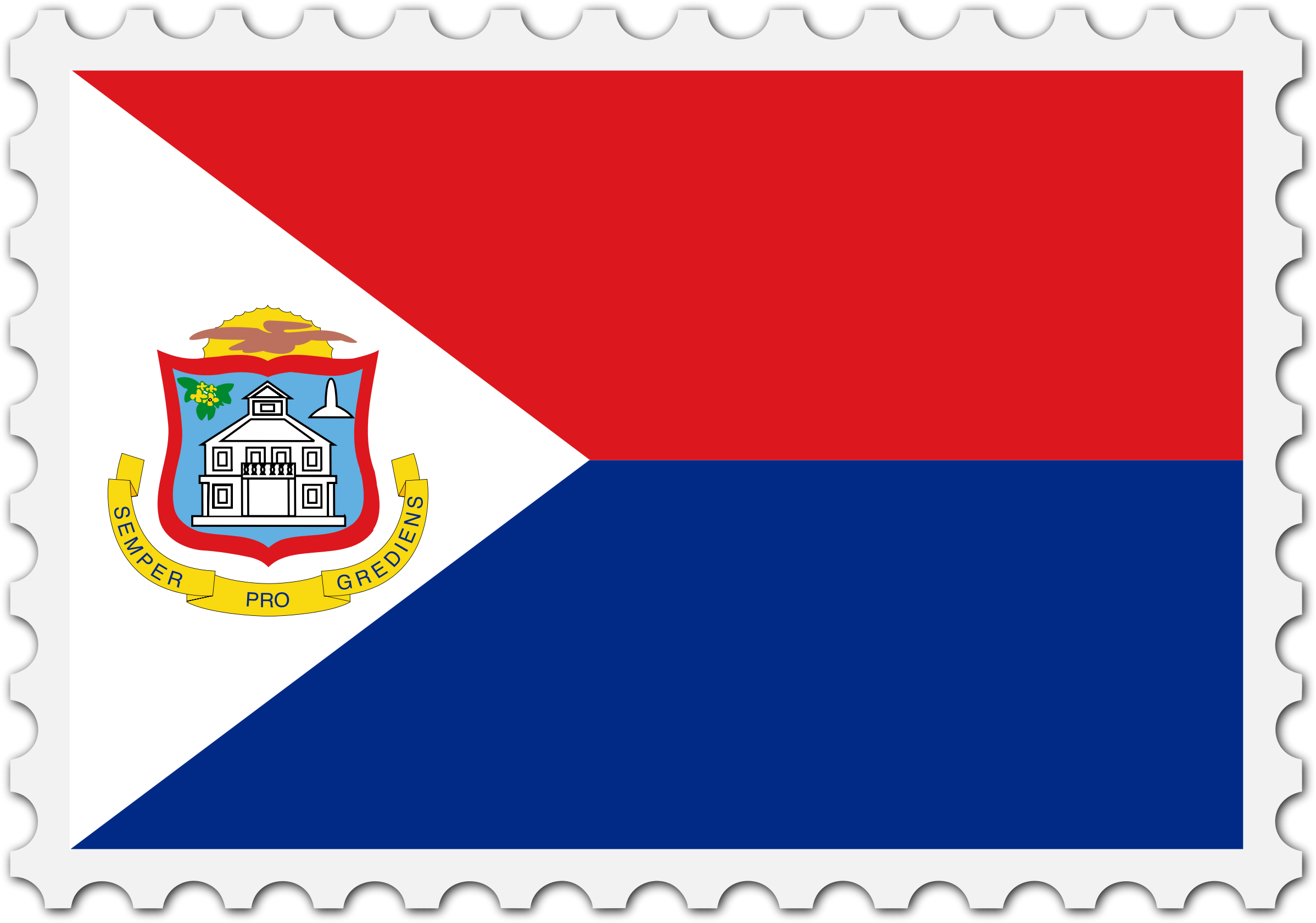 Sint Maarten flag stamp by Firkin