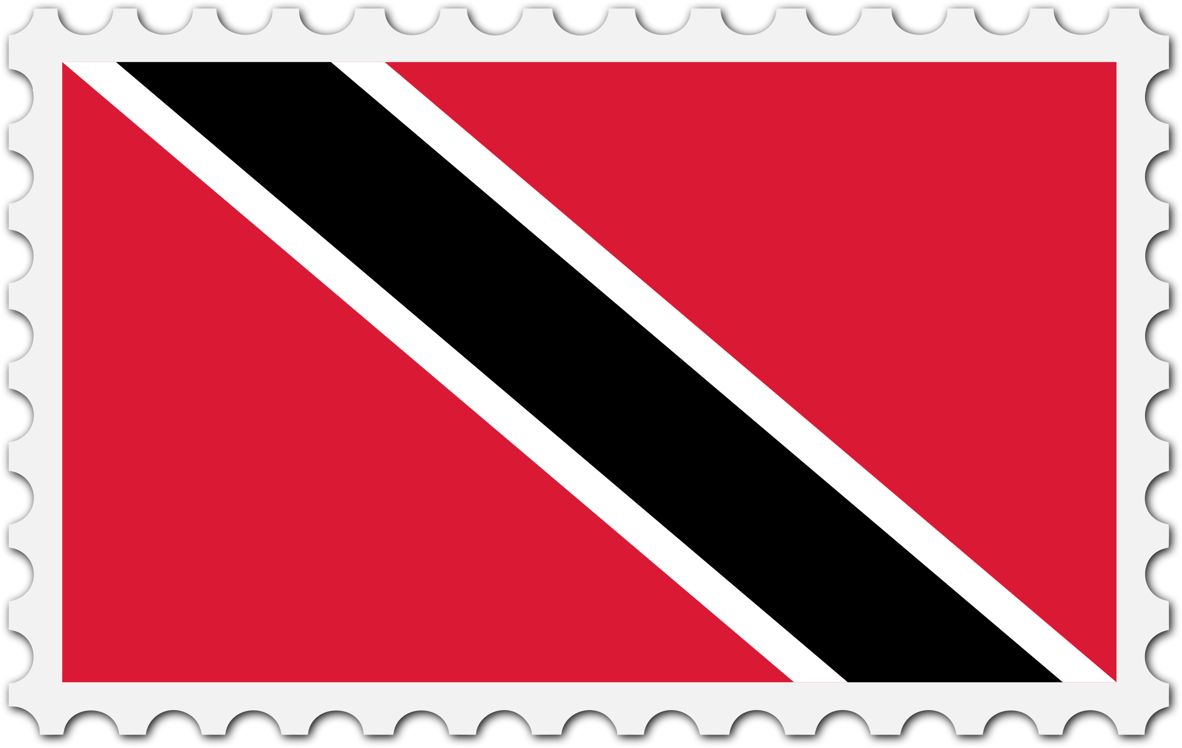 Trinidad and Tobago flag stamp by Firkin