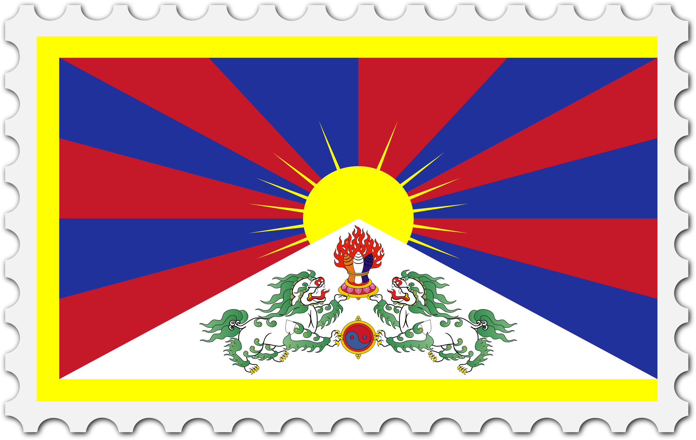 Tibet flag stamp by Firkin