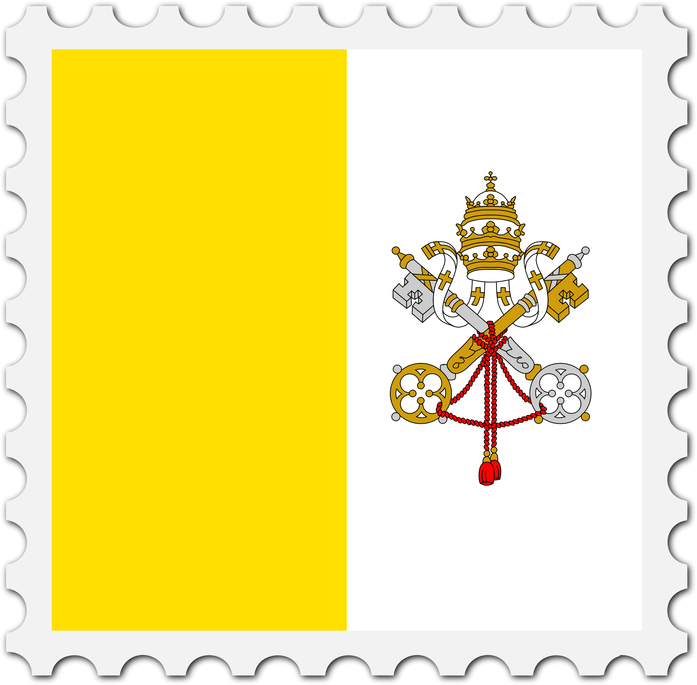 Vatican City flag stamp by Firkin