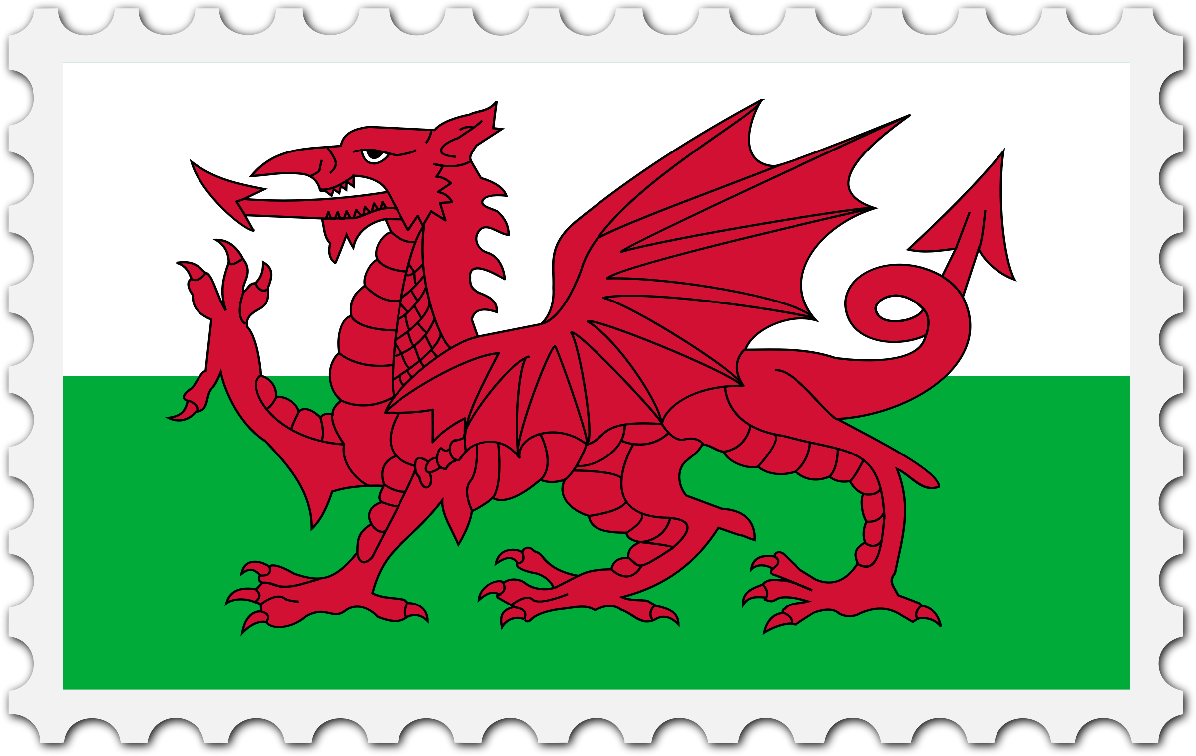 Wales flag stamp by Firkin