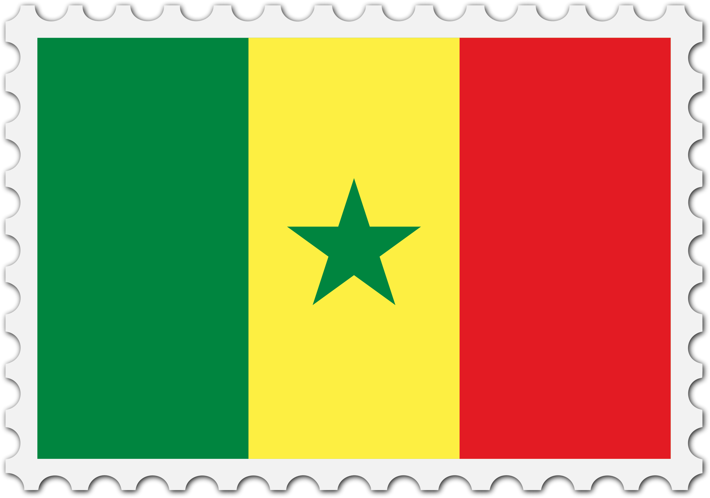 Senegal flag stamp by Firkin