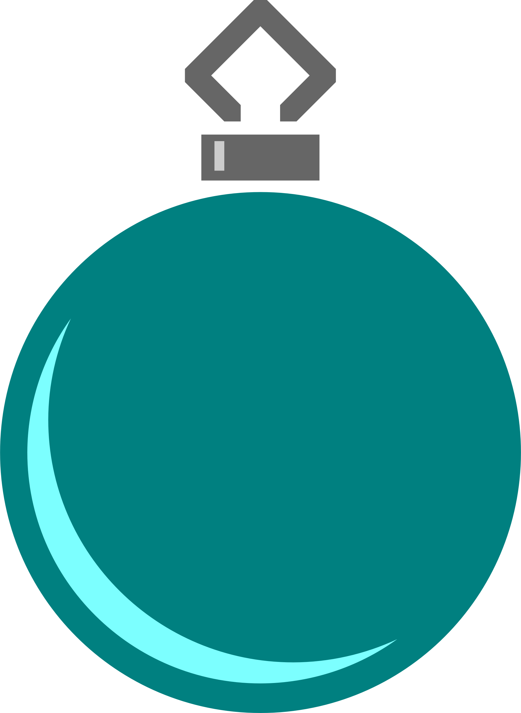 Simple tree bauble 1 (colour) by Firkin