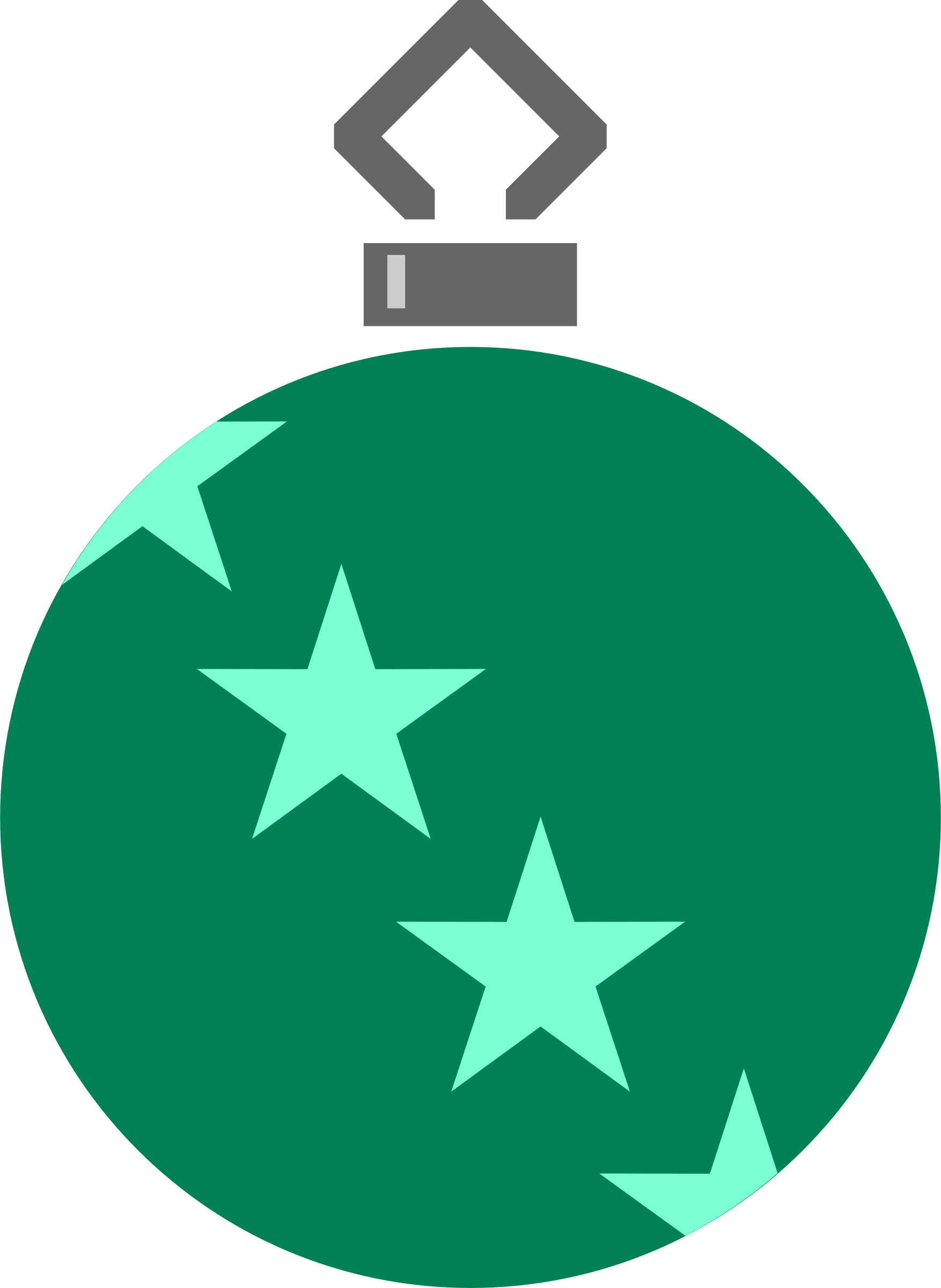 Simple tree bauble 2 (colour) by Firkin